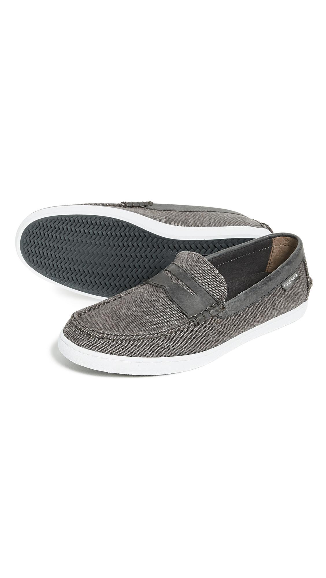 Cole Haan Canvas Pinch Weekender Slip-on Loafer in Grey for Men