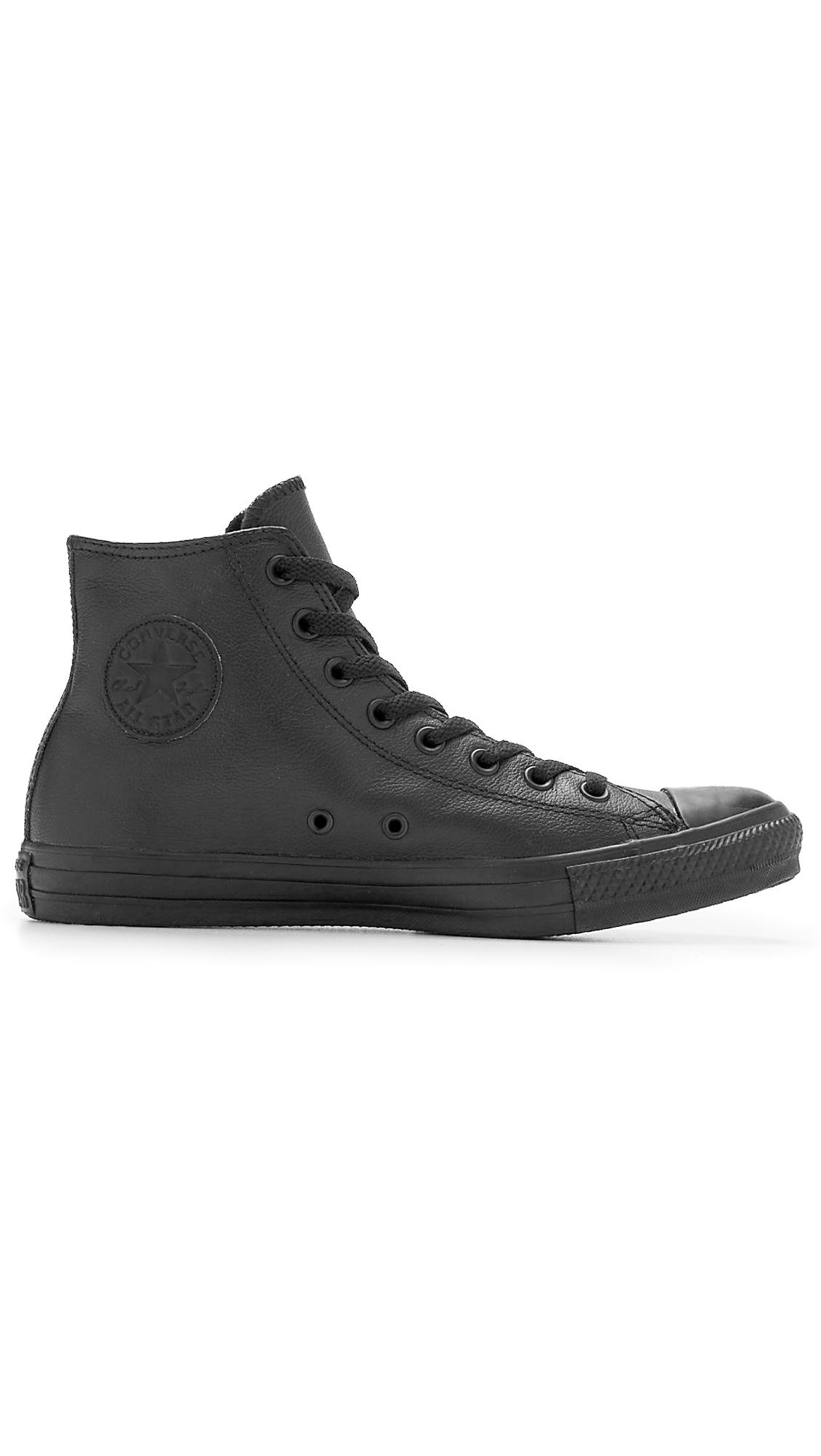 baad370e170b Lyst Converse Chuck Taylor All Star Leather Hi Top Sneakers In