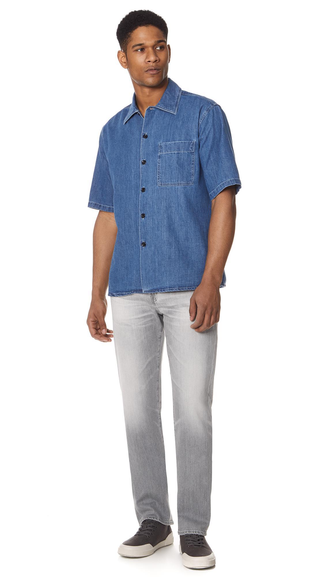 AG Jeans Graduate Tailored Leg Mso Grey Denim in Grey for Men