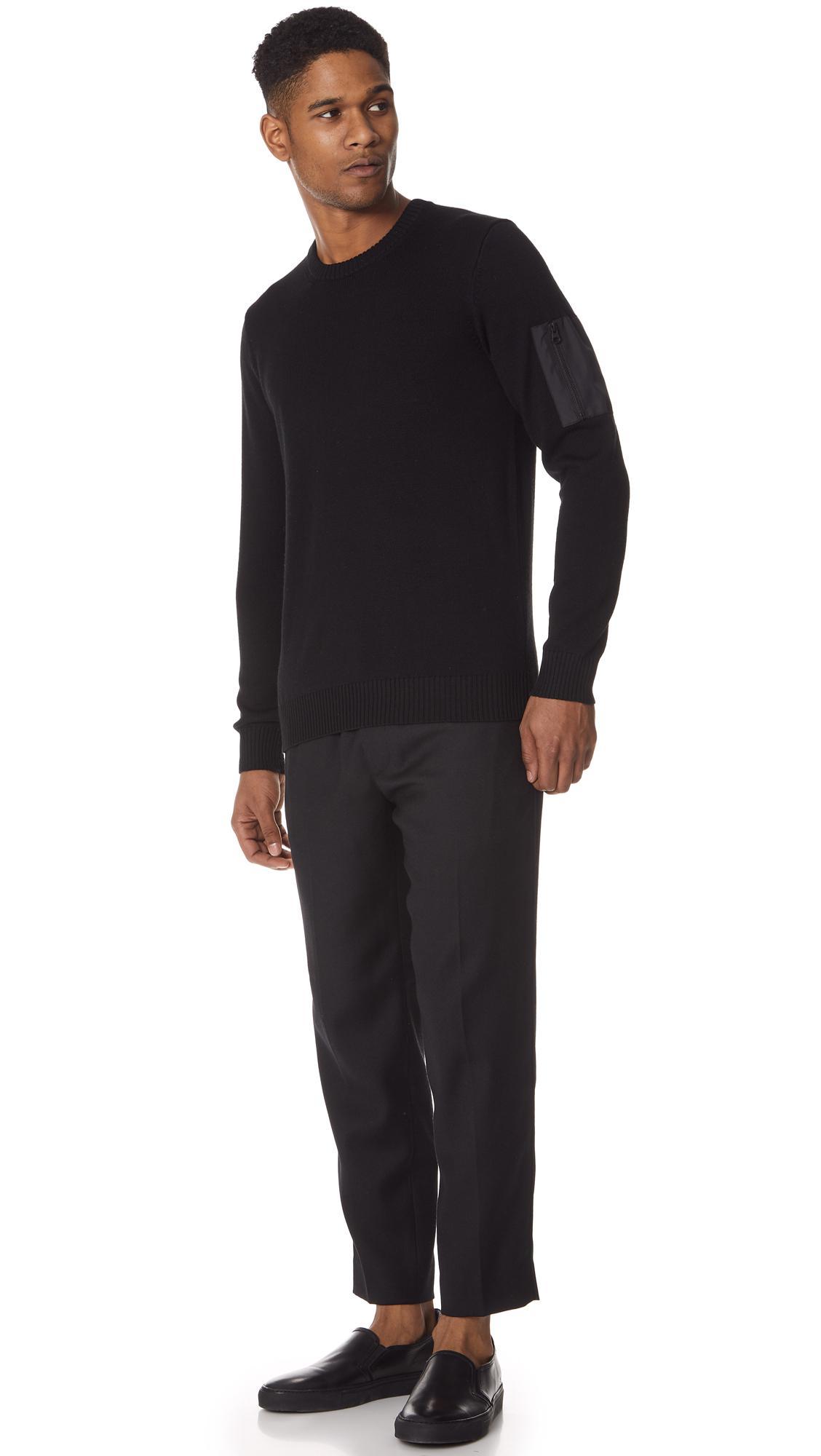 Club Monaco Wool Ma 1 Sweater in Black for Men