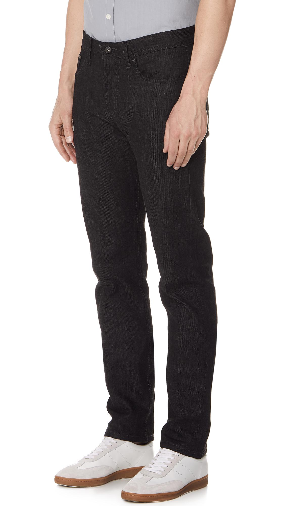 Naked & Famous Denim Weird Guy Jeans in Black/Grey (Black) for Men