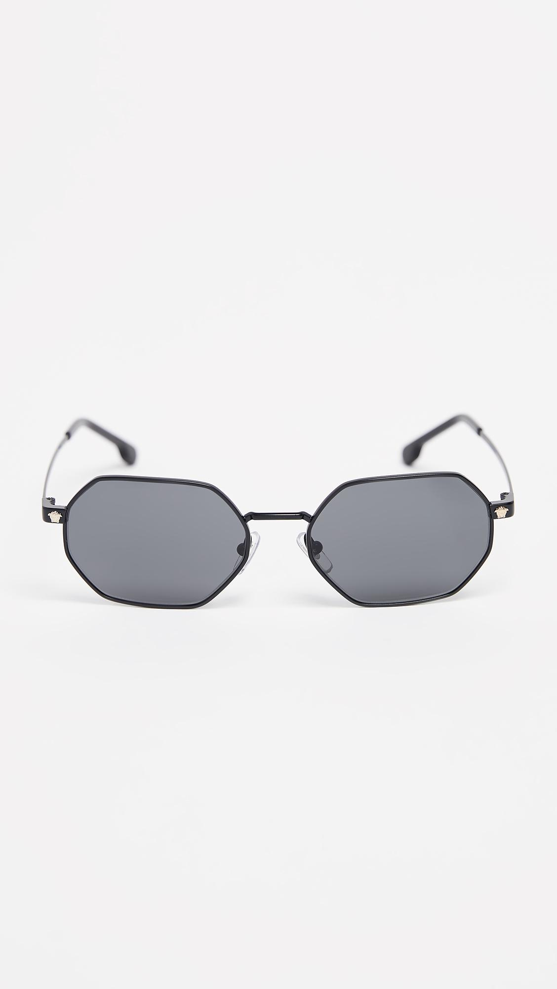 ec31b2c93e3 Versace Vintage Octagon Sunglasses in Gray for Men - Lyst
