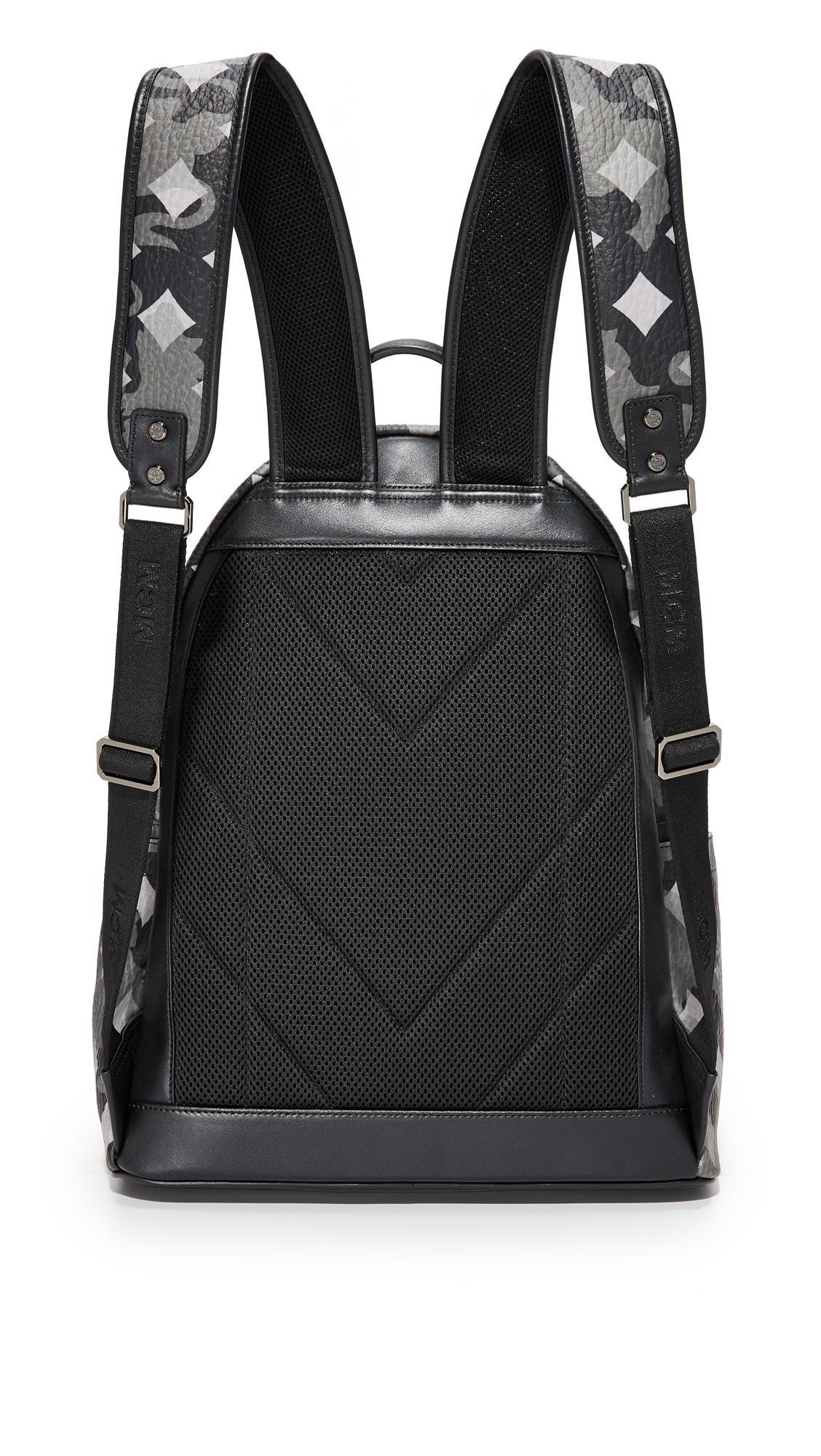 MCM Canvas Stark Camo Backpack in Camo Silver (Black) for Men