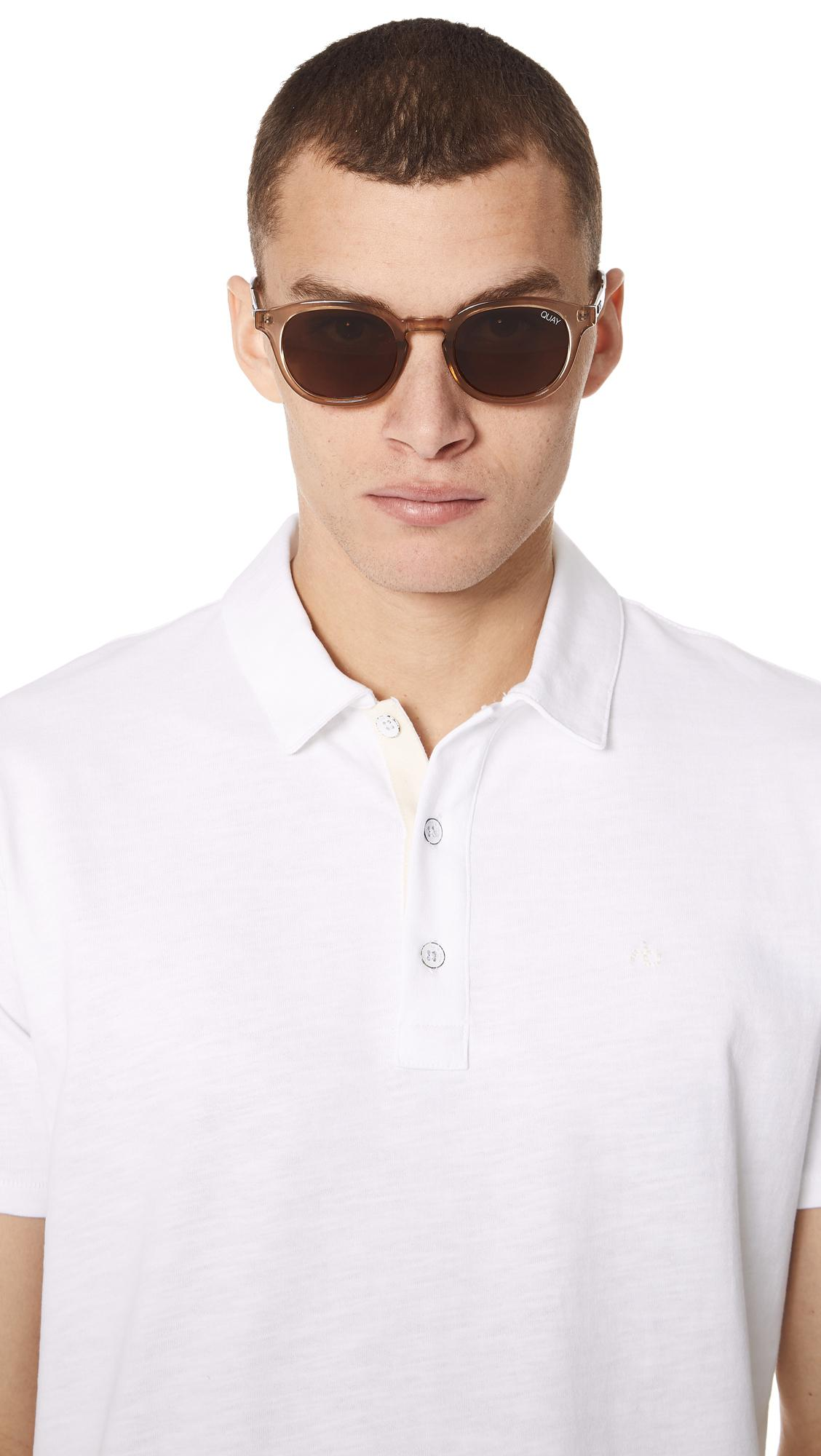 Quay Walk On Toffee Sunglasses With Brown Lens for Men