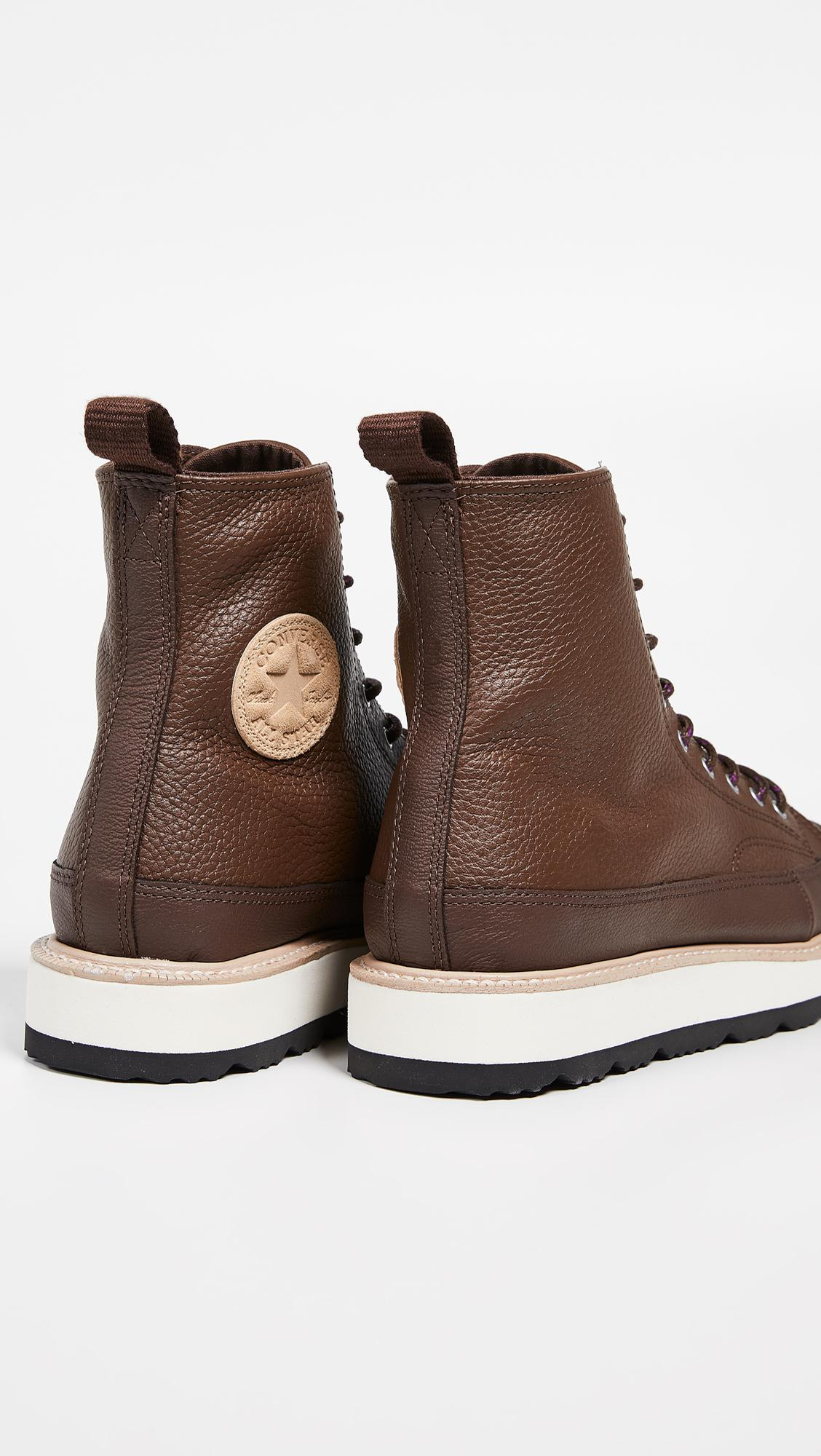 Converse Brown Chuck Taylor Crafted Boot Hi ( Chocolatelight Fawnblack) Lace up Boots for men