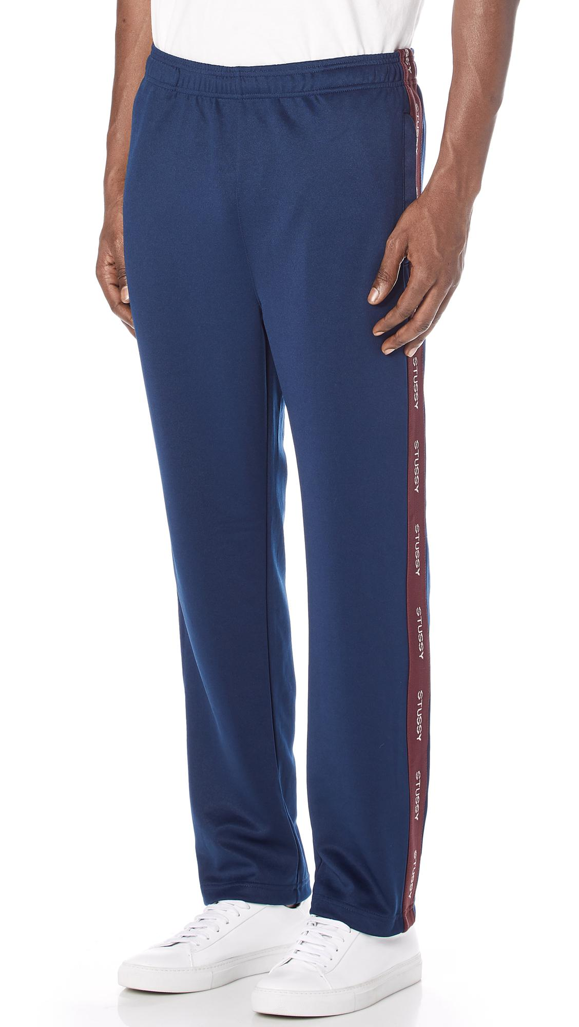 Stussy Synthetic Poly Track Pants in Navy (Blue) for Men