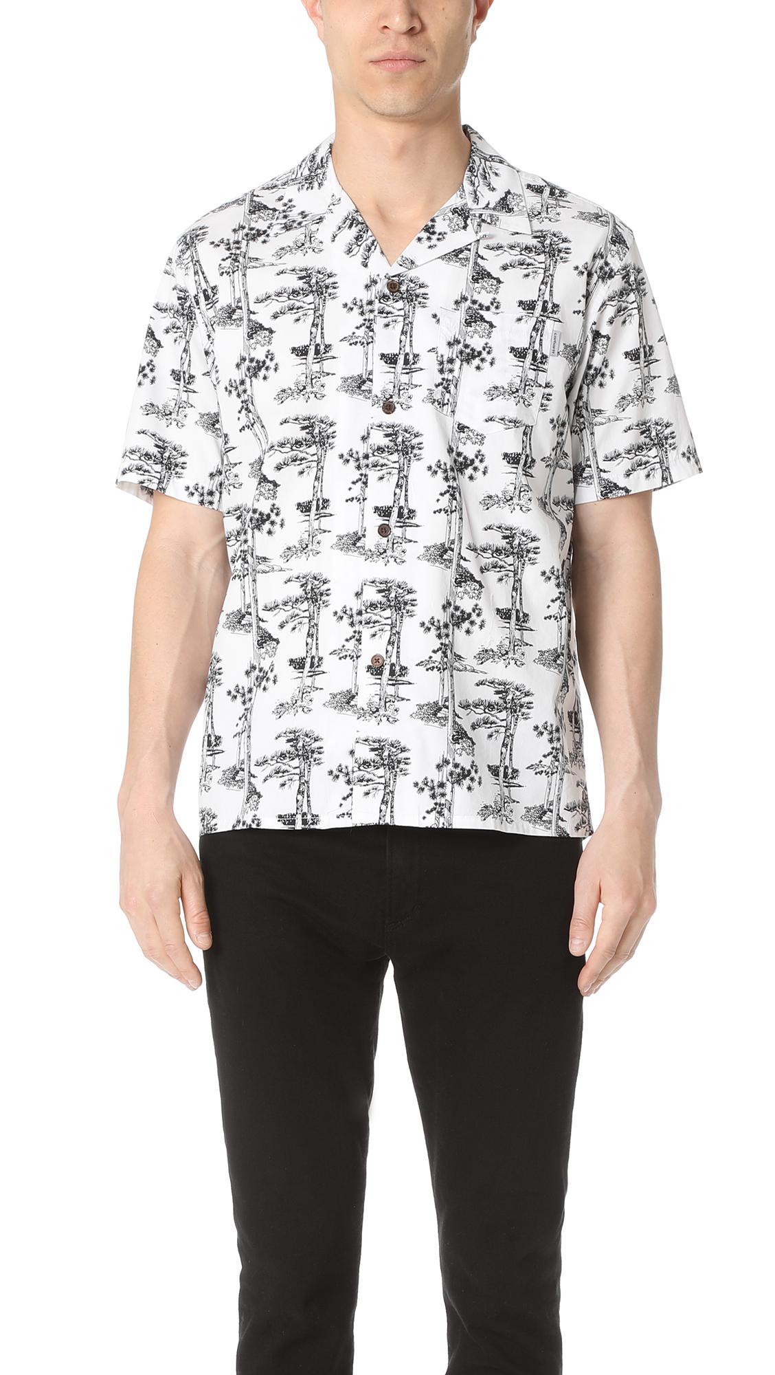 32f09972 Carhartt WIP Short Sleeve Pine Hawaii Shirt in White for Men - Lyst