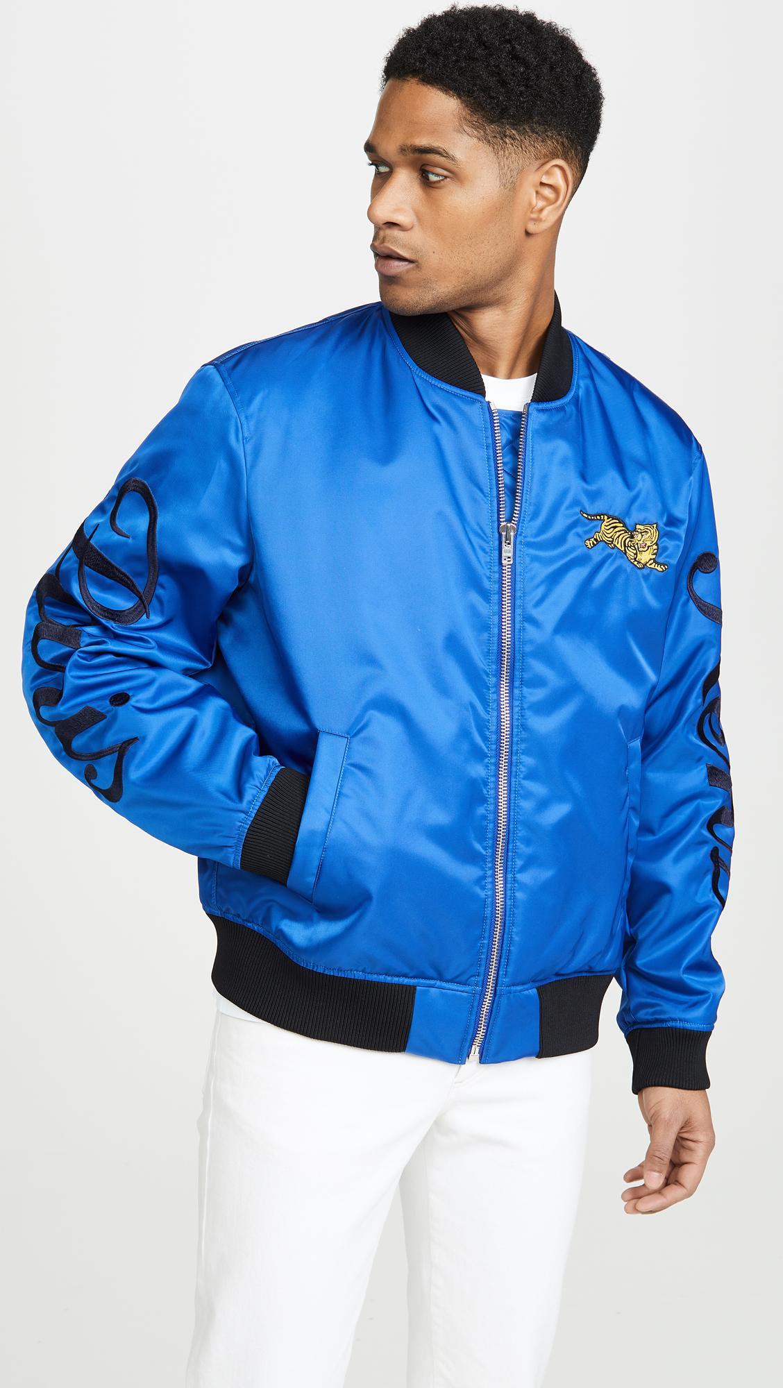 ec7323684f KENZO - Blue Jumping Tiger Crest Bomber Jacket for Men - Lyst. View  fullscreen