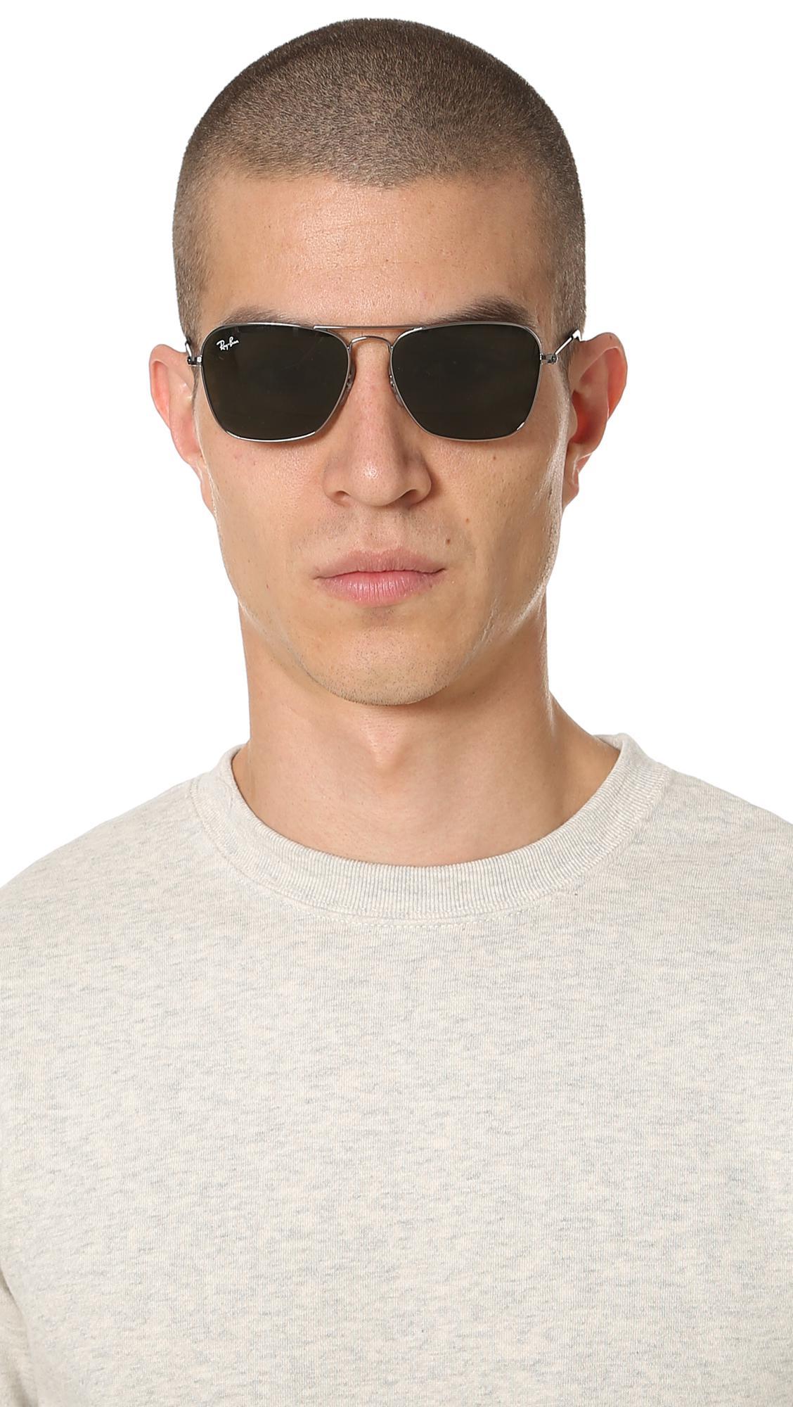 edfcfccb59a Ray-Ban - Metallic Caravan Sunglasses for Men - Lyst. View fullscreen