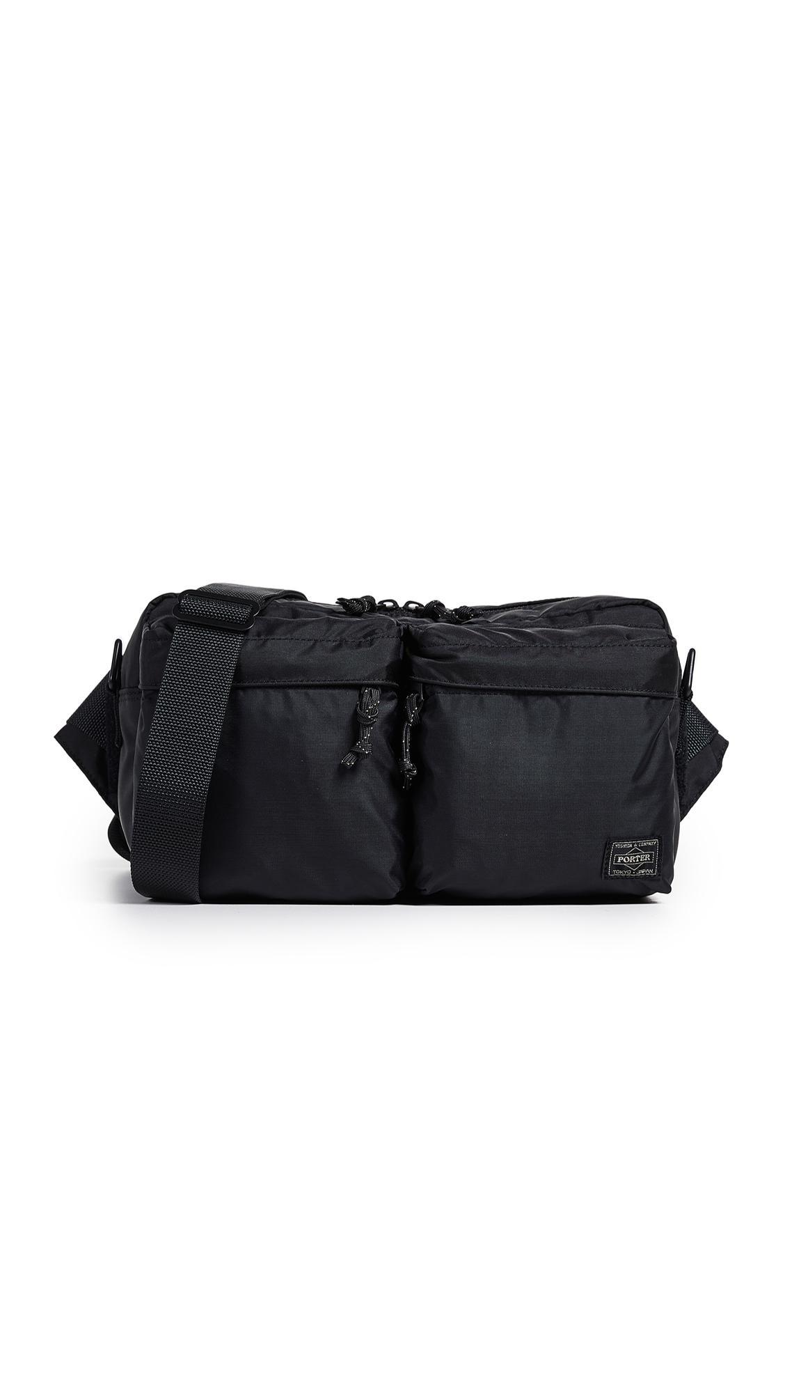 b041e4dd0ec8 Porter Force 2-way Waist Bag in Black for Men - Lyst