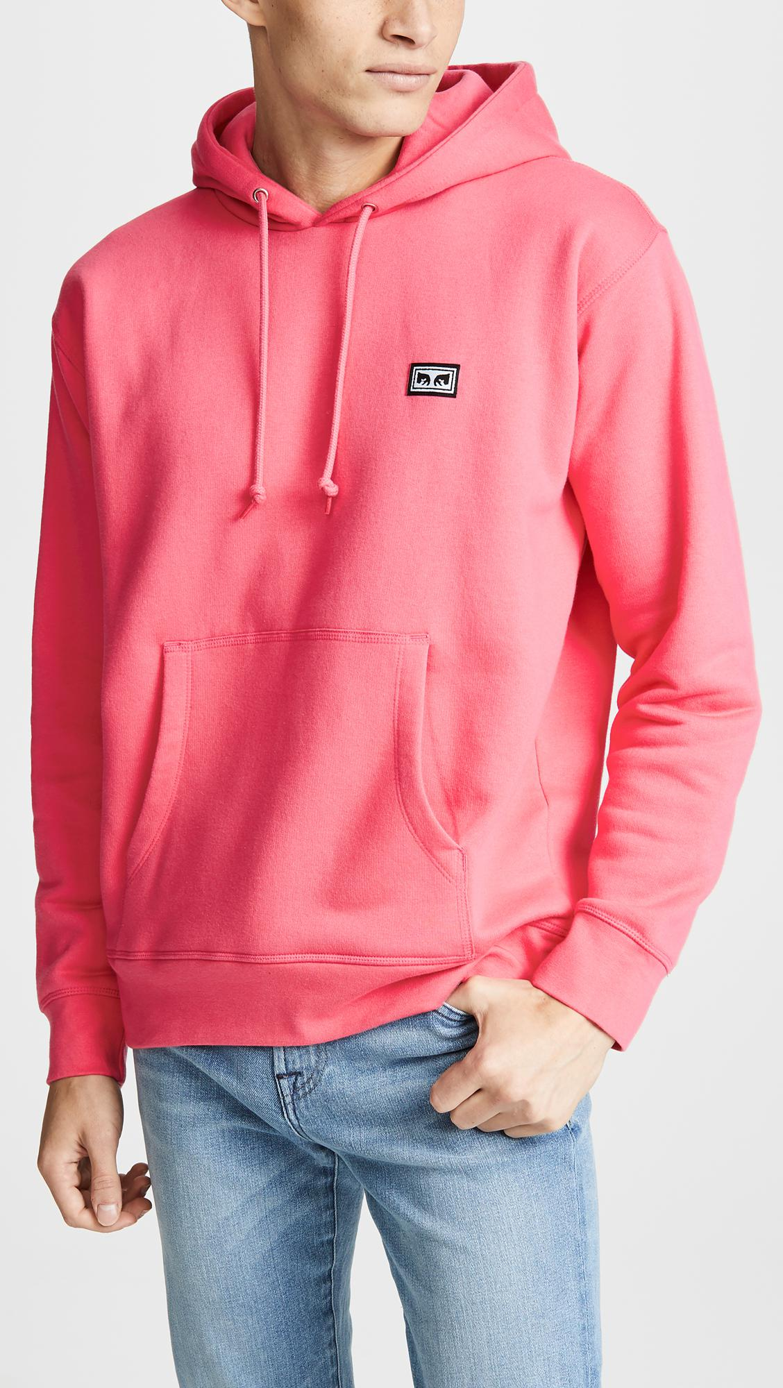 59f7a0383ef8 Obey All Eyez Hoodie in Pink for Men - Lyst