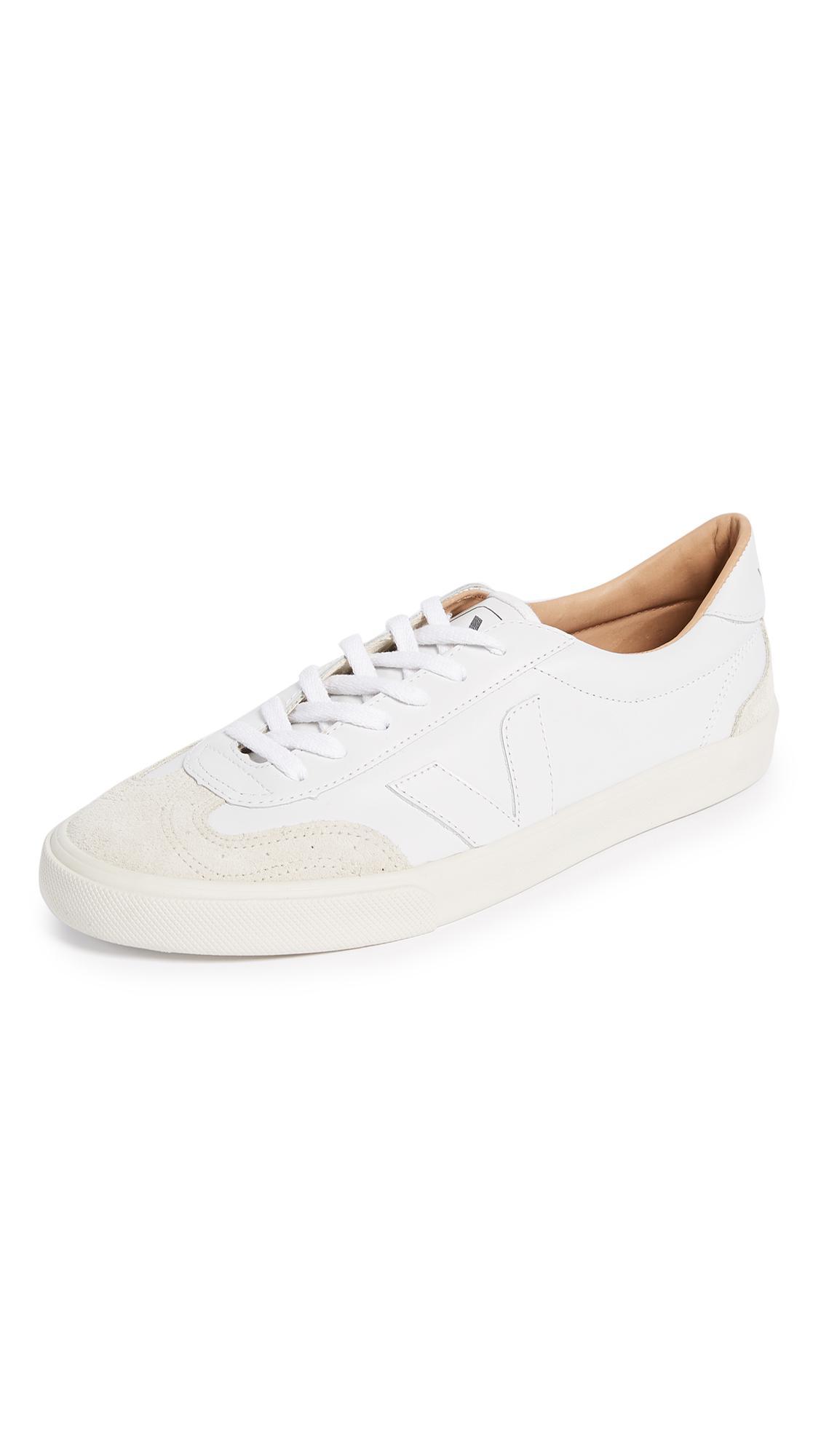 Veja Leather Bastille Volley Sneaker in