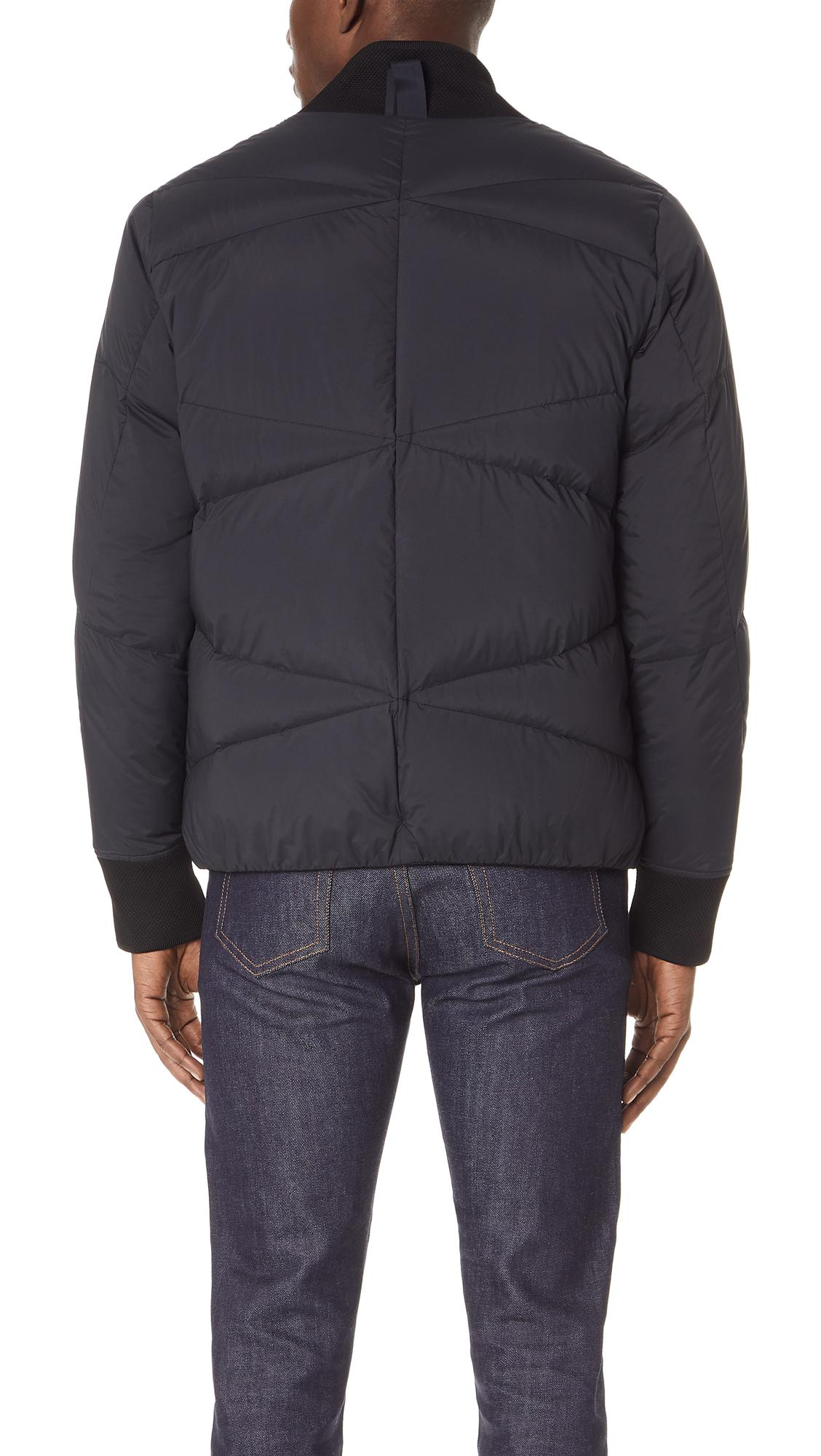 Isaora Synthetic Zionic Down Bomber Jacket in Black for Men