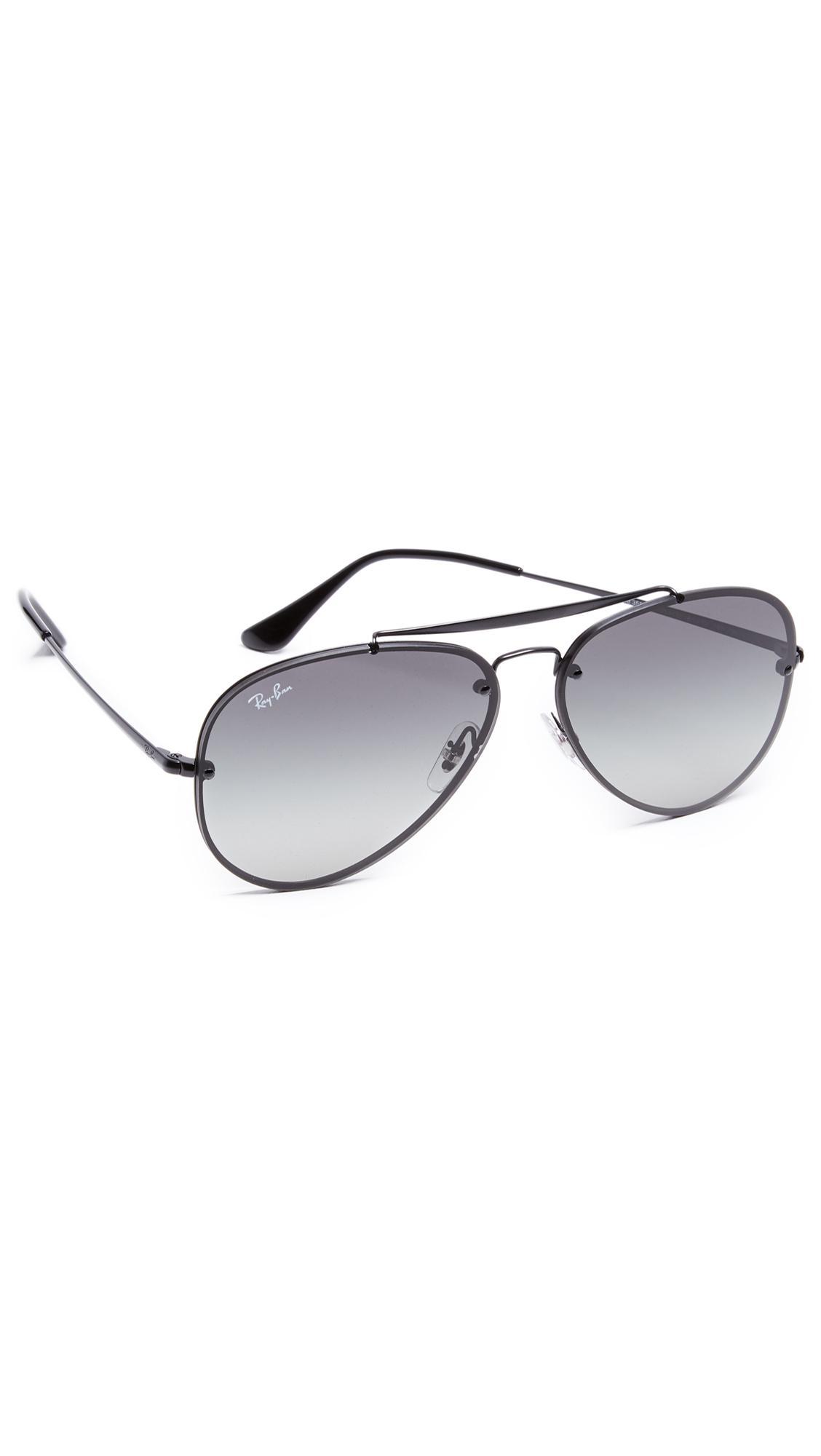 b4c7db8e81beb Ray-Ban Blaze Aviator Sunglasses in Gray for Men - Lyst