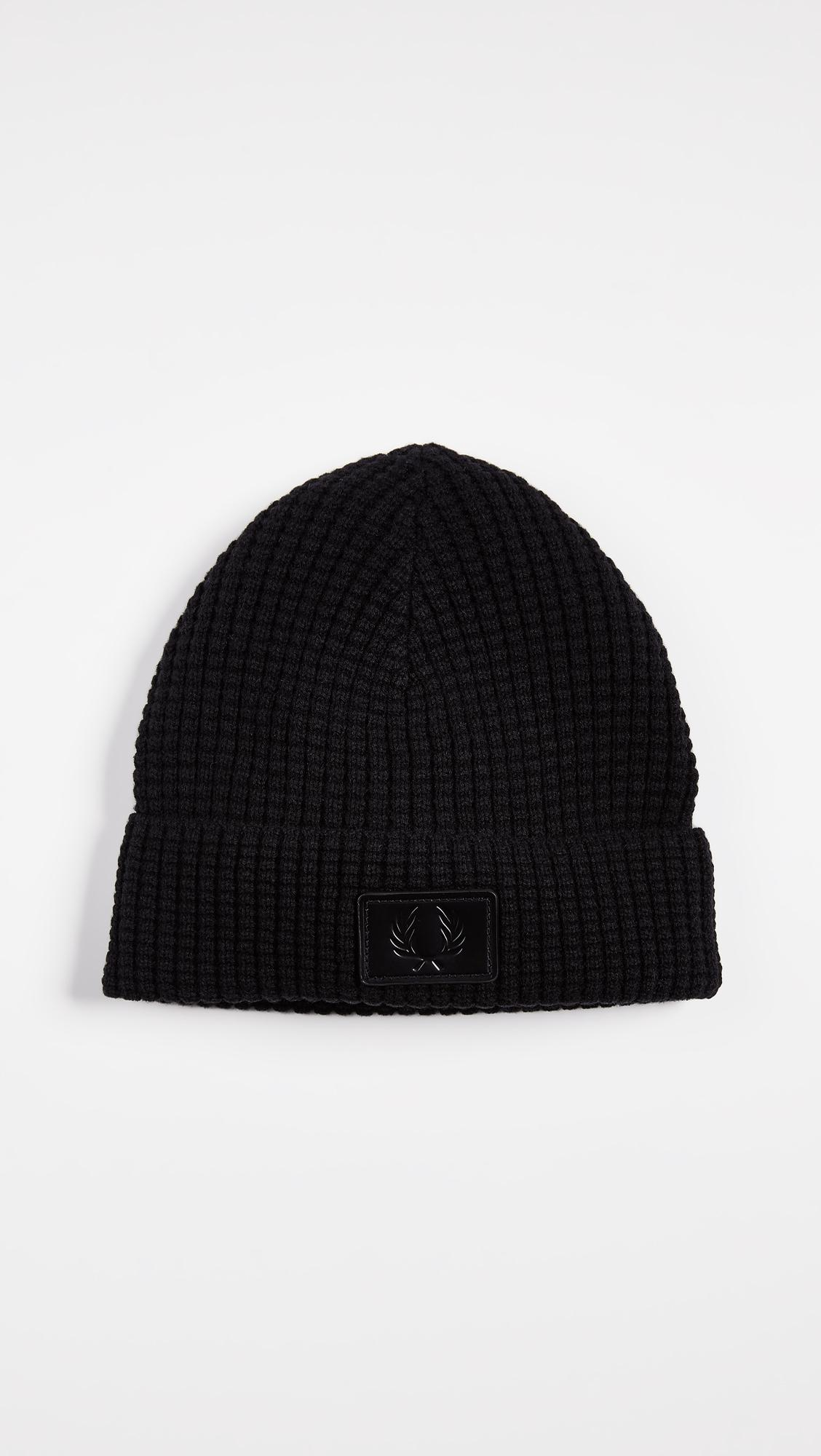 f25ea419c67d8 Lyst - Fred Perry Waffle Knit Beanie in Black for Men - Save 33%