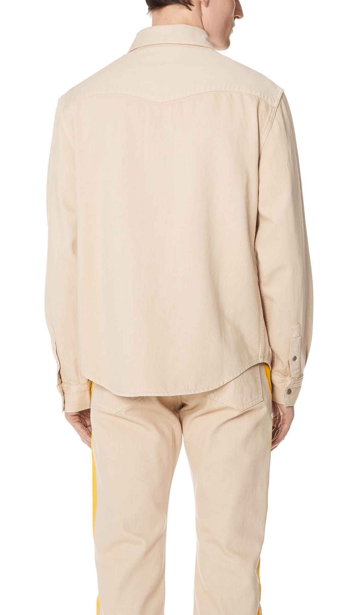 Calvin Klein Jeans Archive Western Blocked Shirt - Natural Outlet New Styles Sale Pay With Paypal Outlet Enjoy mDV1jPp