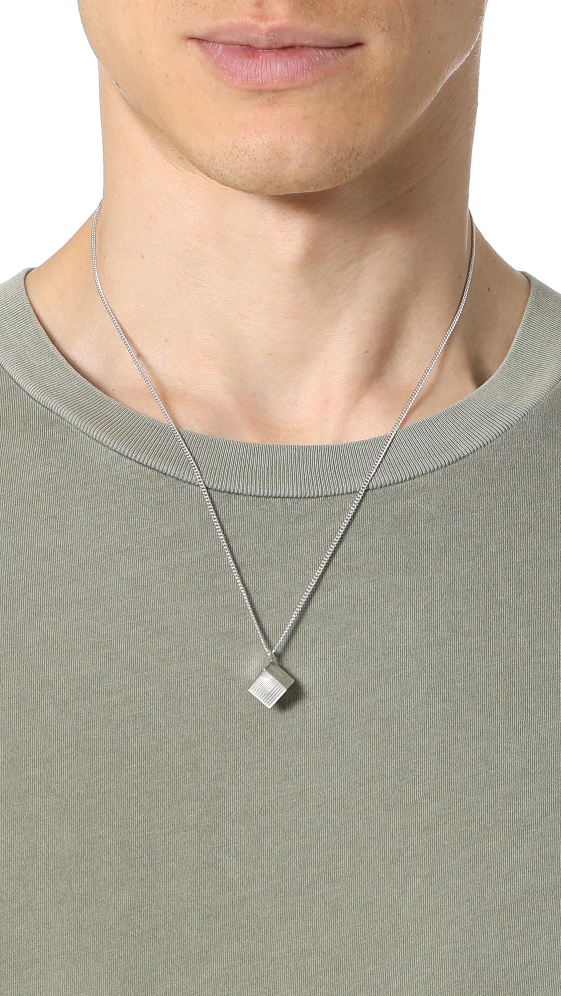 A.P.C. Collier Rubik Necklace in Silver (Metallic) for Men