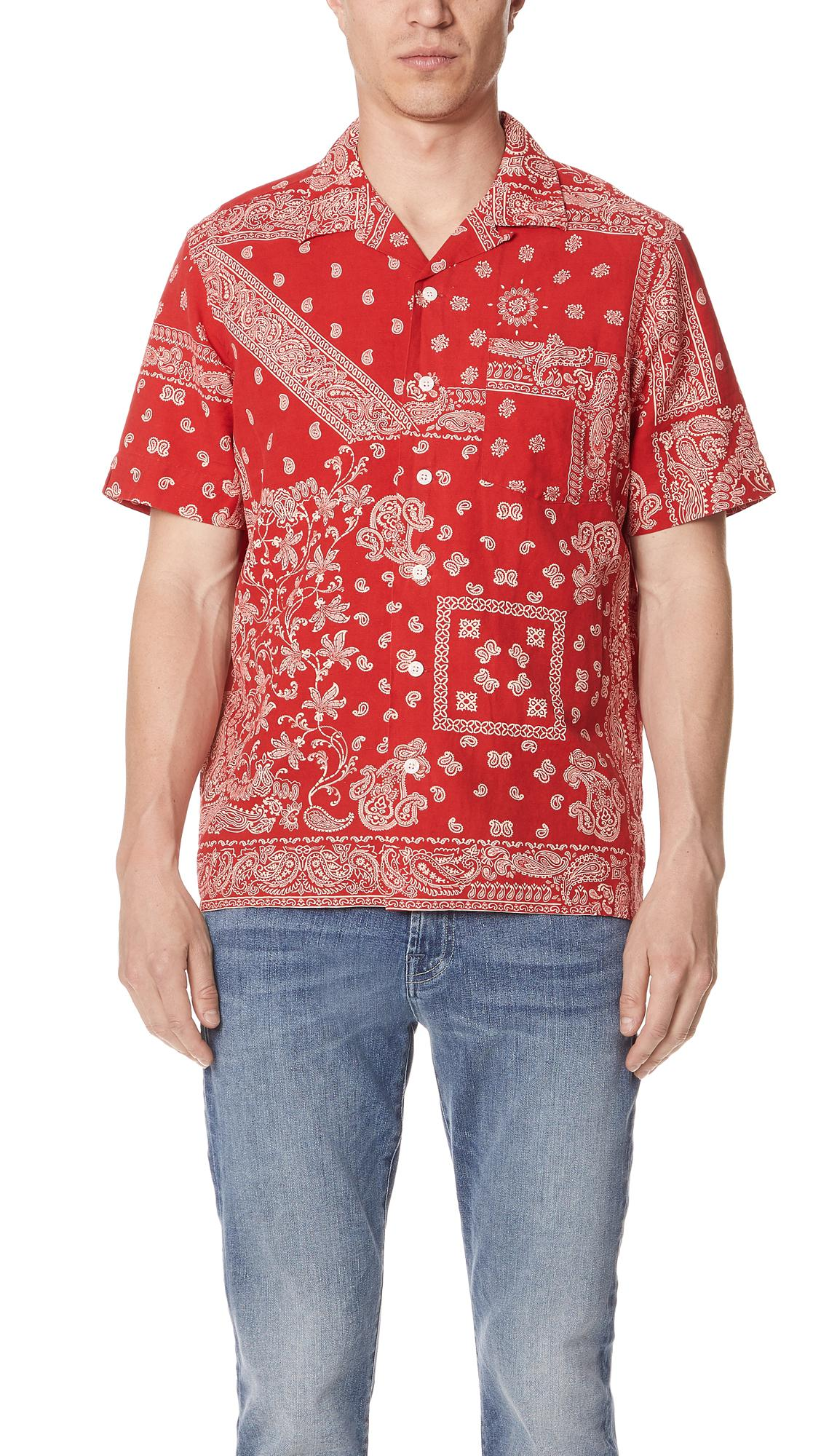 9829c1234 Polo Ralph Lauren Bandana Shirt in Red for Men - Lyst