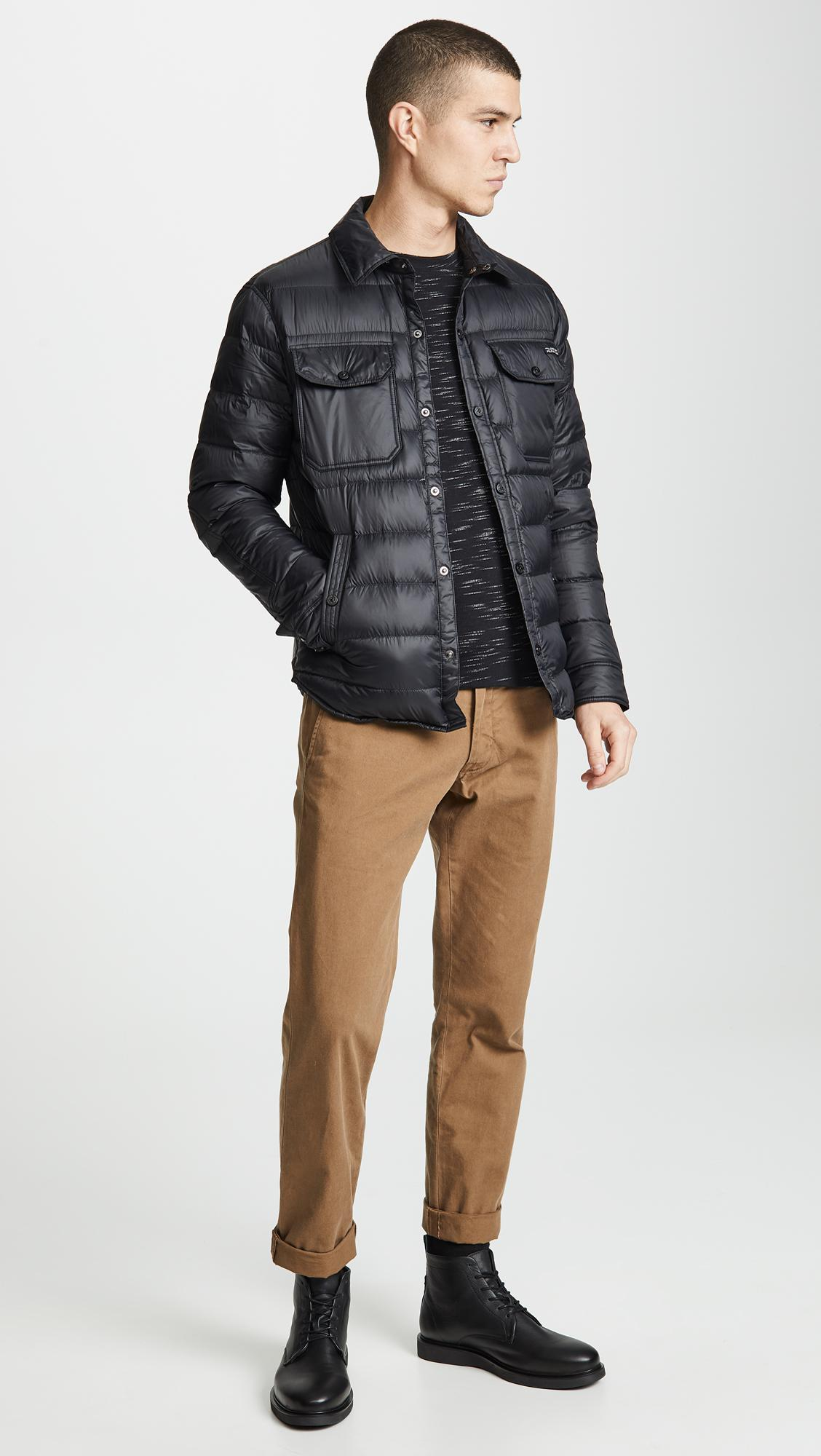 1ba26f58ade Lyst - Polo Ralph Lauren Quilted Down Shirt Jacket in Black for Men
