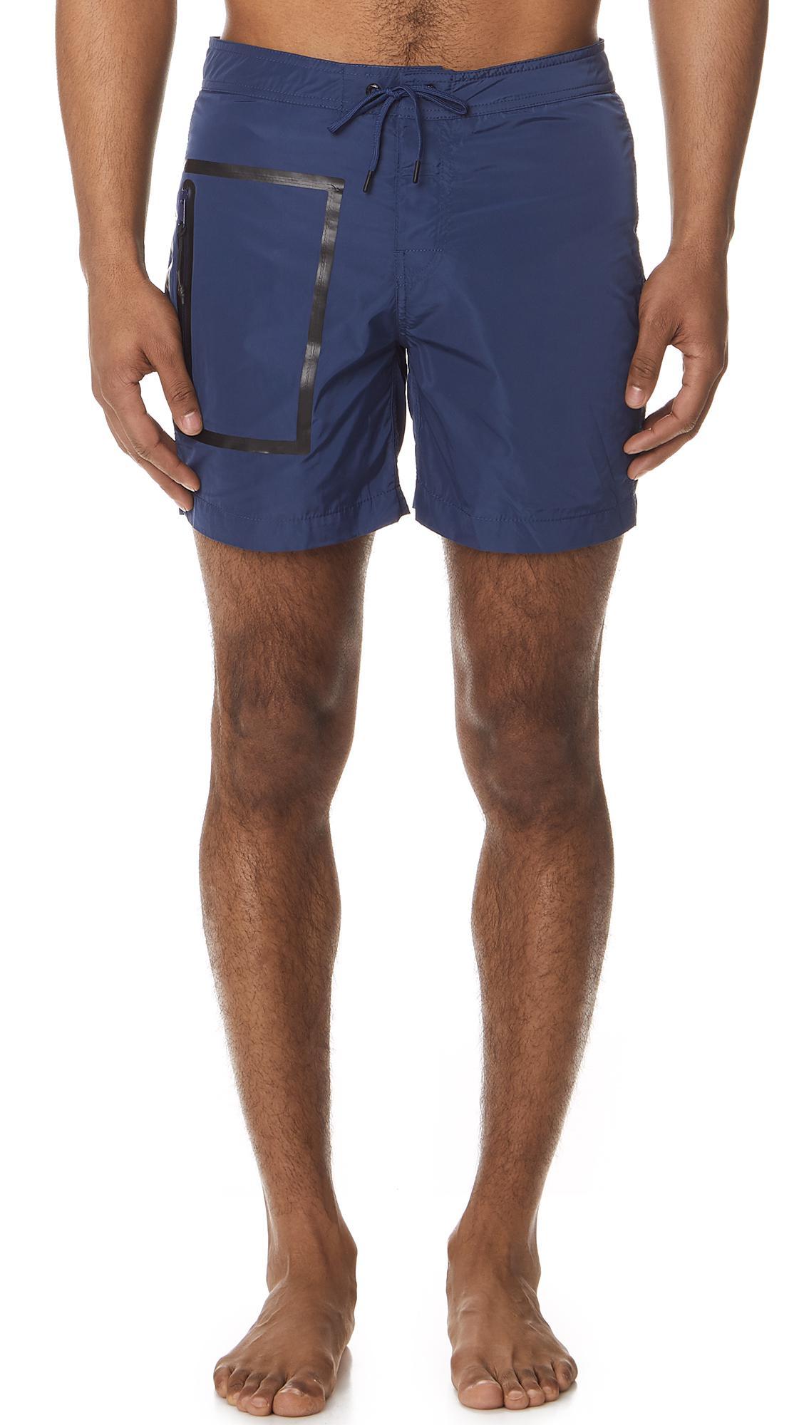Lyst Long In Blue Swim Men Sundek Fixed With Waistband For Shorts 4rq4agO5