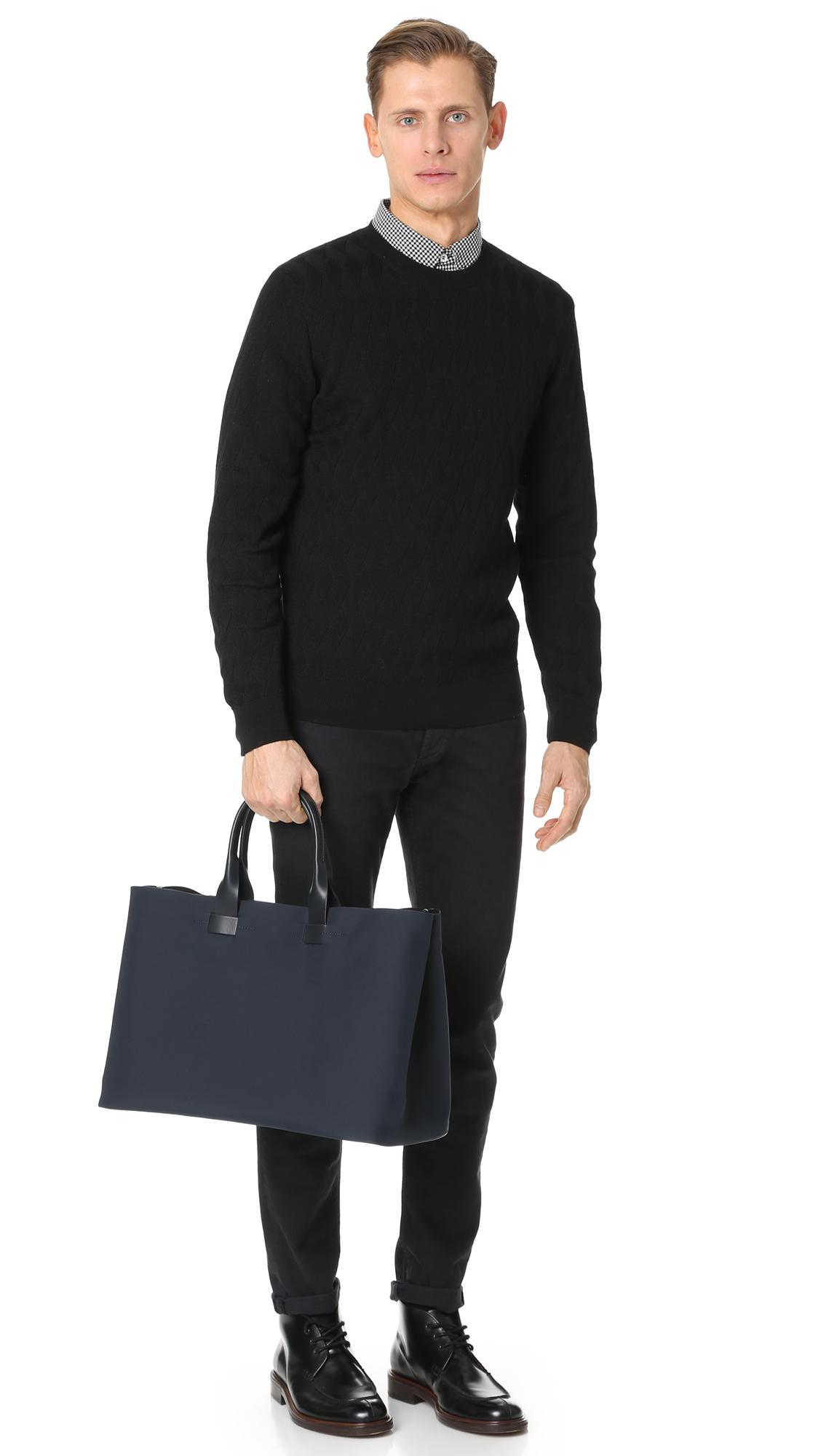 Troubadour Synthetic Nylon Tote in Navy (Blue) for Men