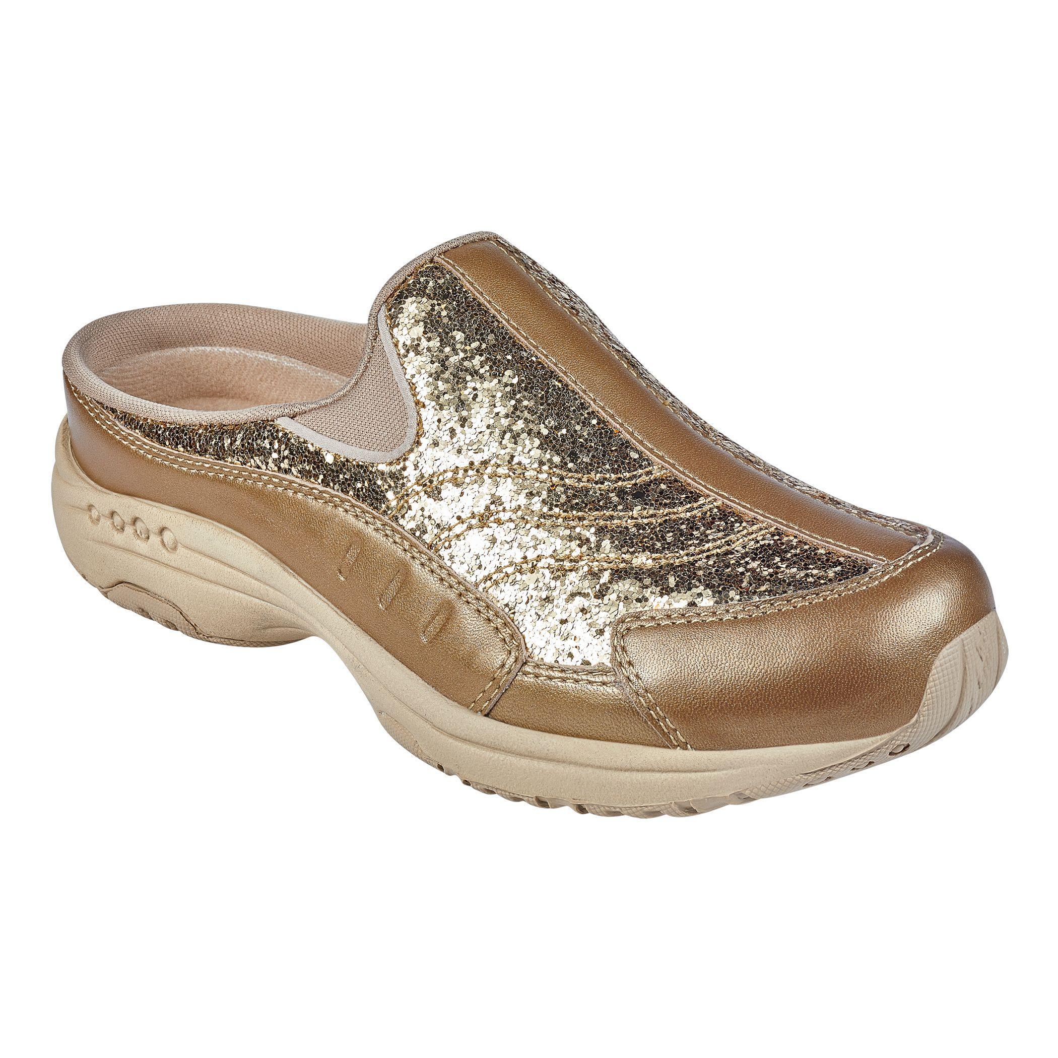 Leather Traveltime Glitter Clogs