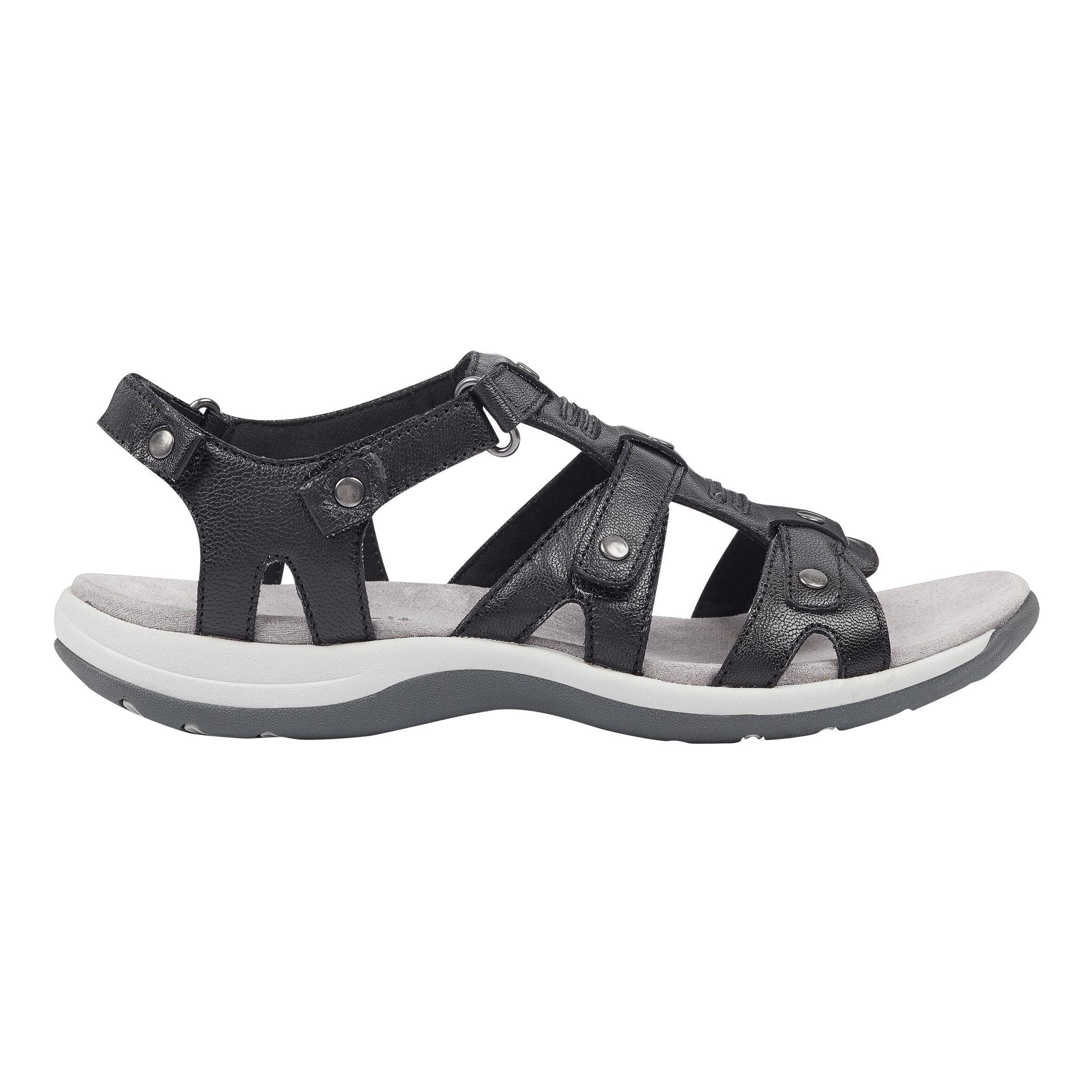 Lyst - Easy Spirit Sailors Flat Sandals in Black - Save 41% 5a0bb3bcfe6