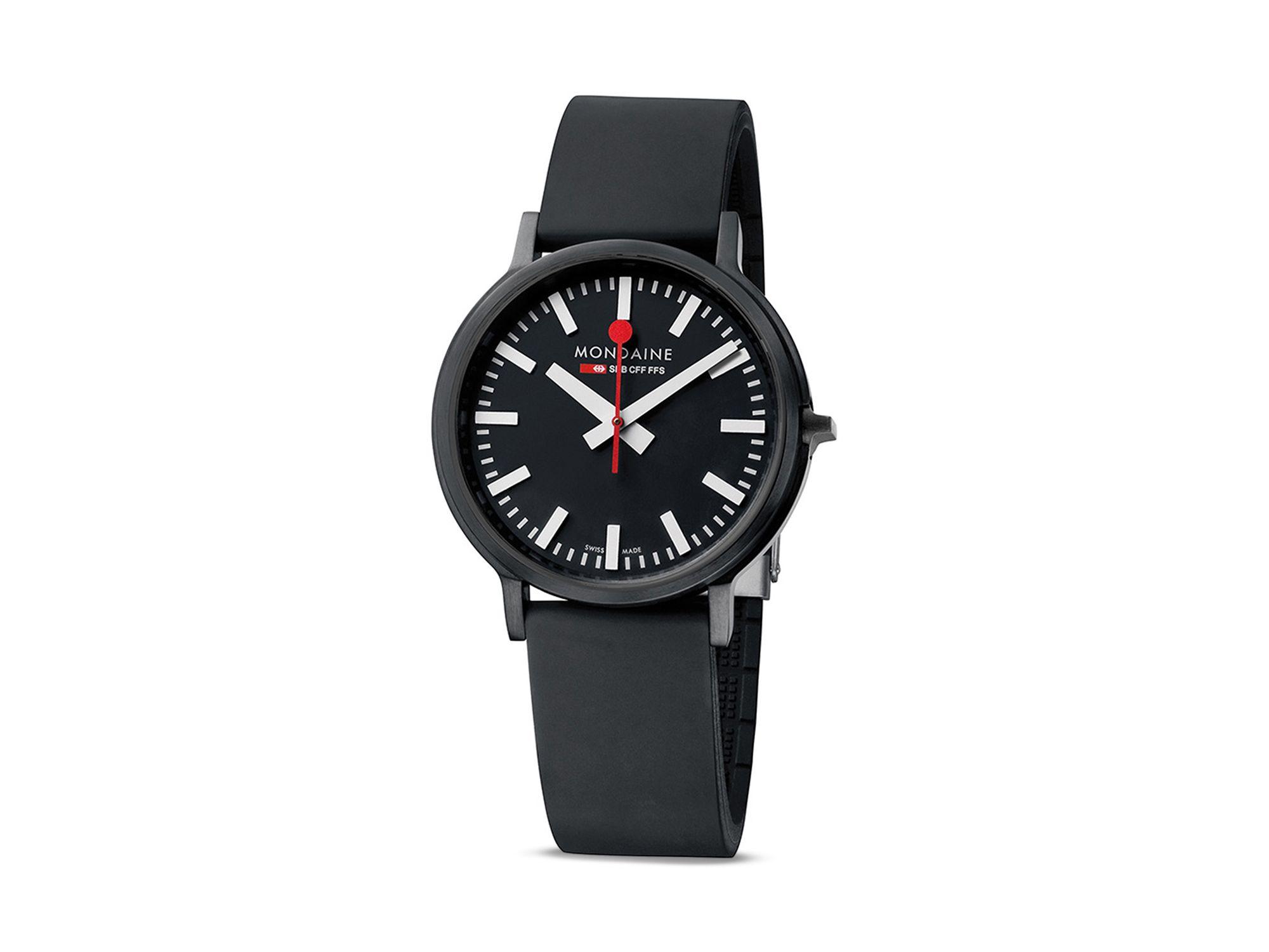 Mondaine Stop2go Watch, 41mm in Black | Lyst