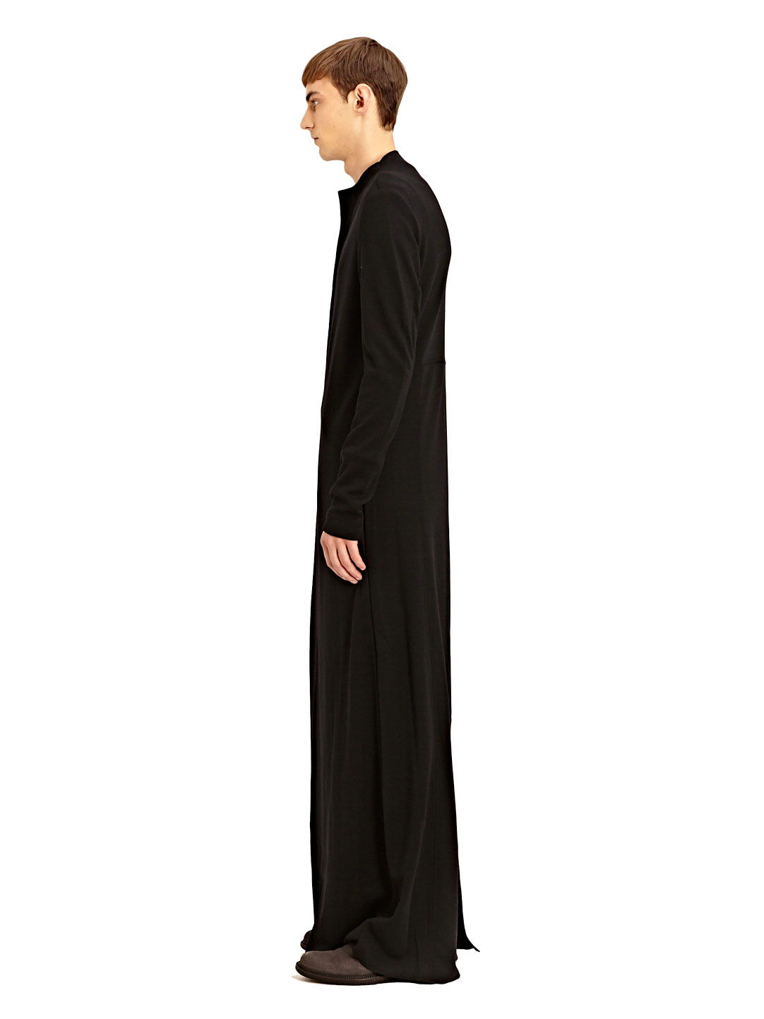 Lyst - Thamanyah Mens Extra Long Asymmetrical Zipped Kandora in ...