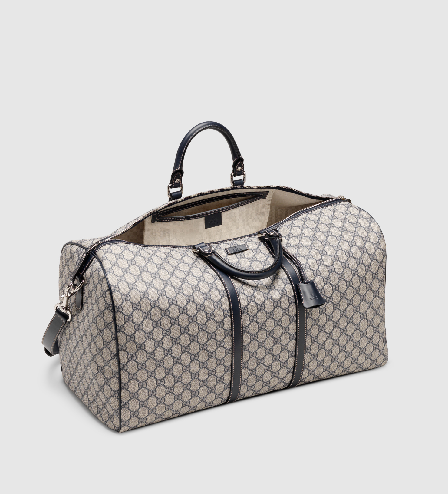 Gucci Large Carry On Duffle Bag In Gray