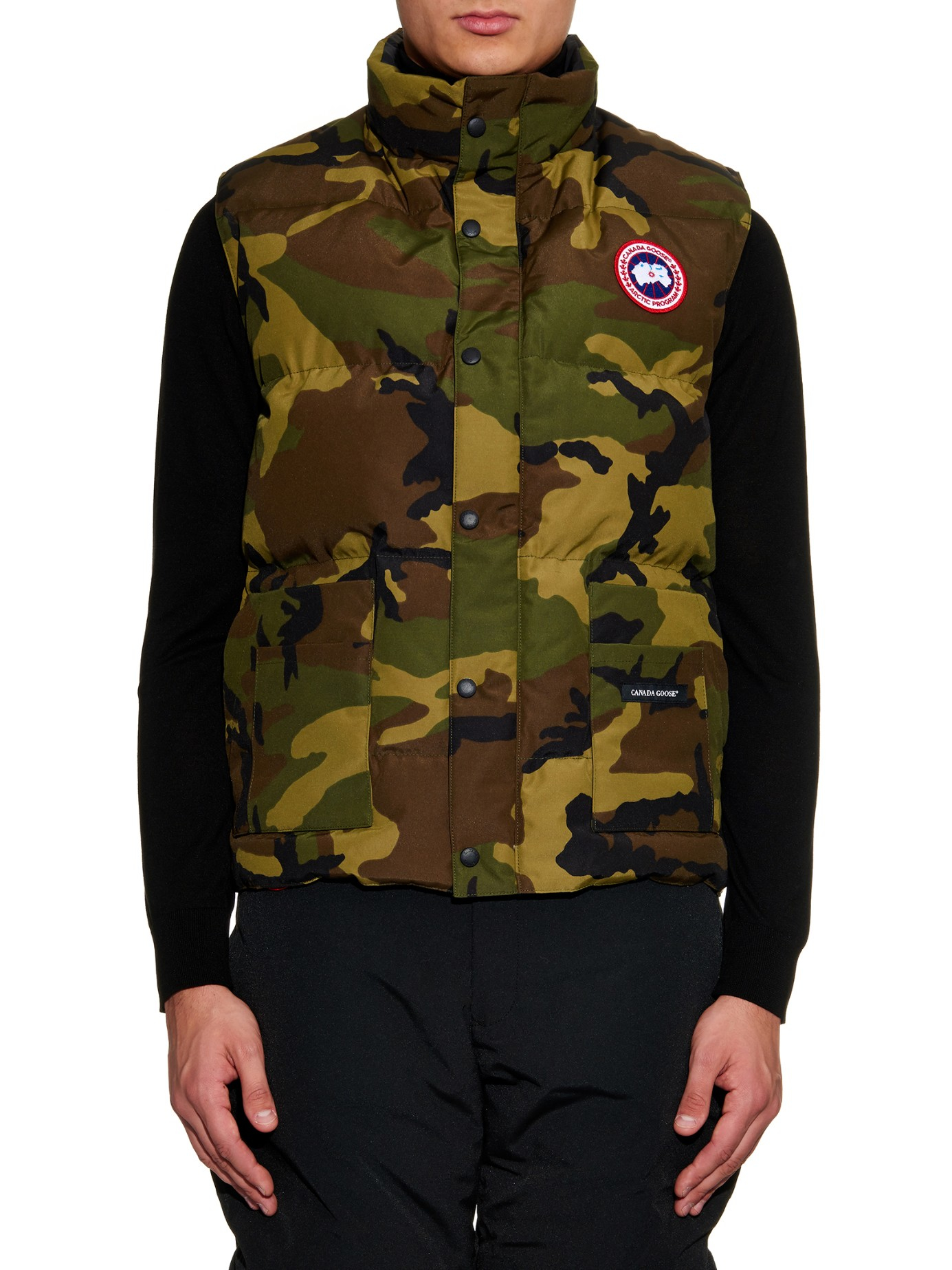 Lyst Canada Goose Freestyle Quilted Down Gilet In Natural For Men