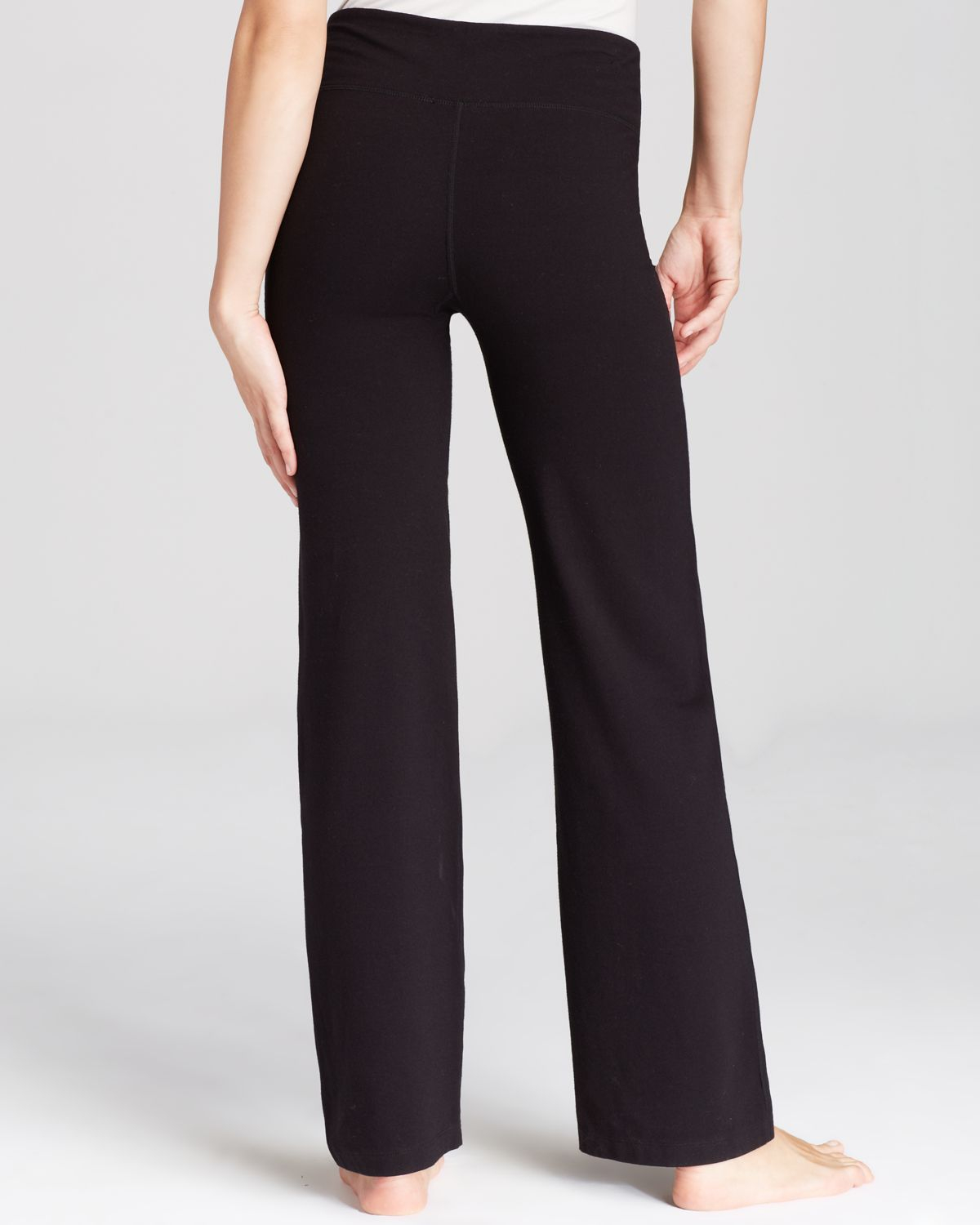 Two by vince camuto Wide Leg Yoga Pants in Black | Lyst