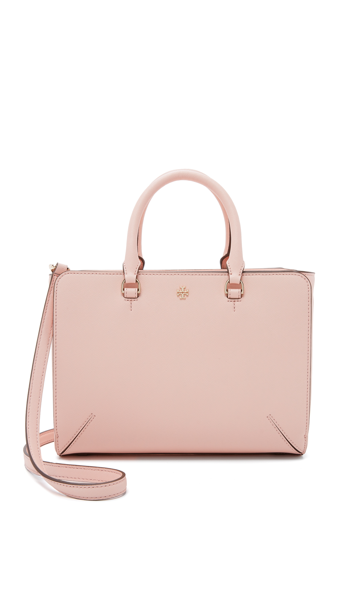 eb50458435f6 Tory Burch Robinson Small Zip Tote in Pink - Lyst