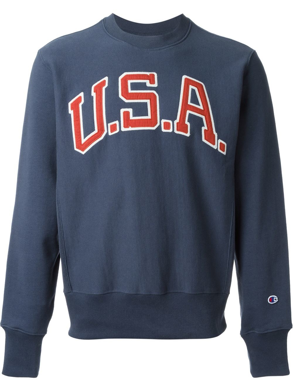 Champion Embroidered Usa Patch Sweatshirt in Blue for Men | Lyst