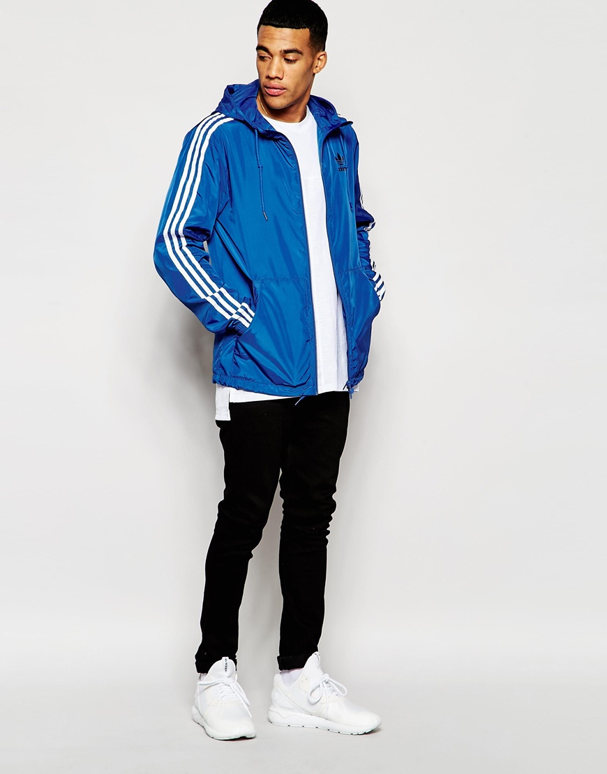 Lyst Adidas Originals Itasca Windbreaker Jacket Aj6975 In Blue For Men