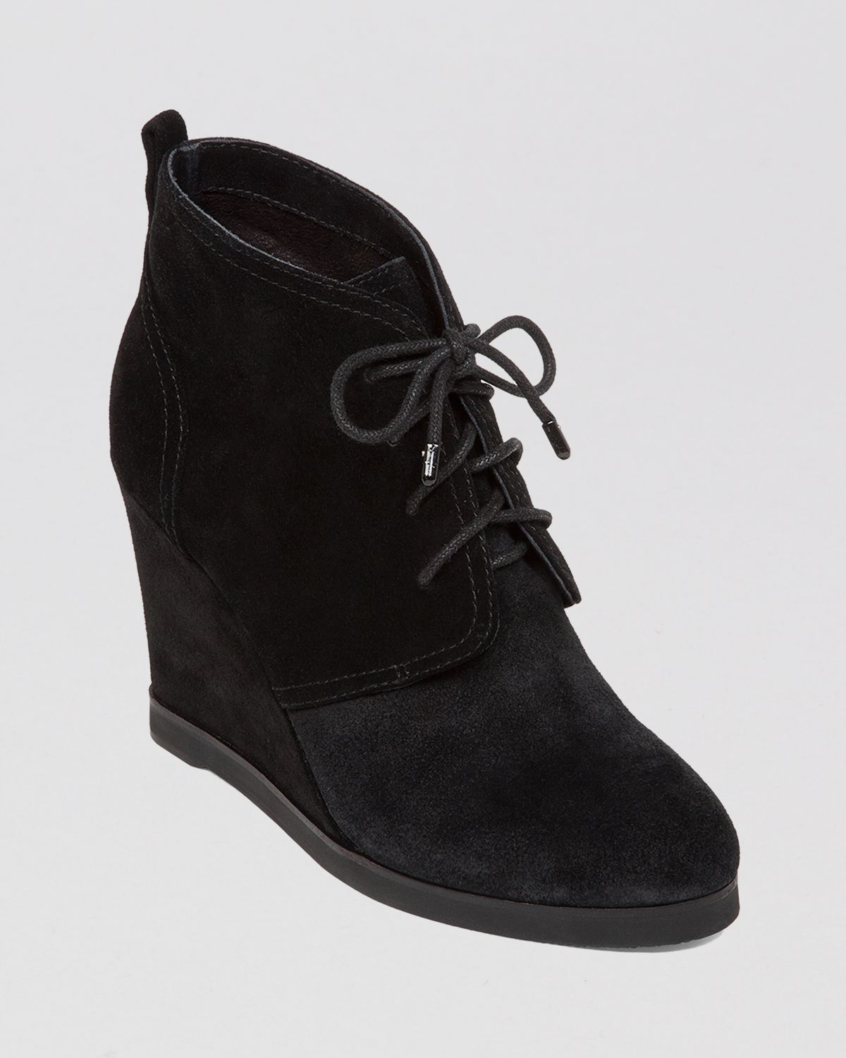 Vince Camuto Lace Up Wedge Booties - Kiotio in Black