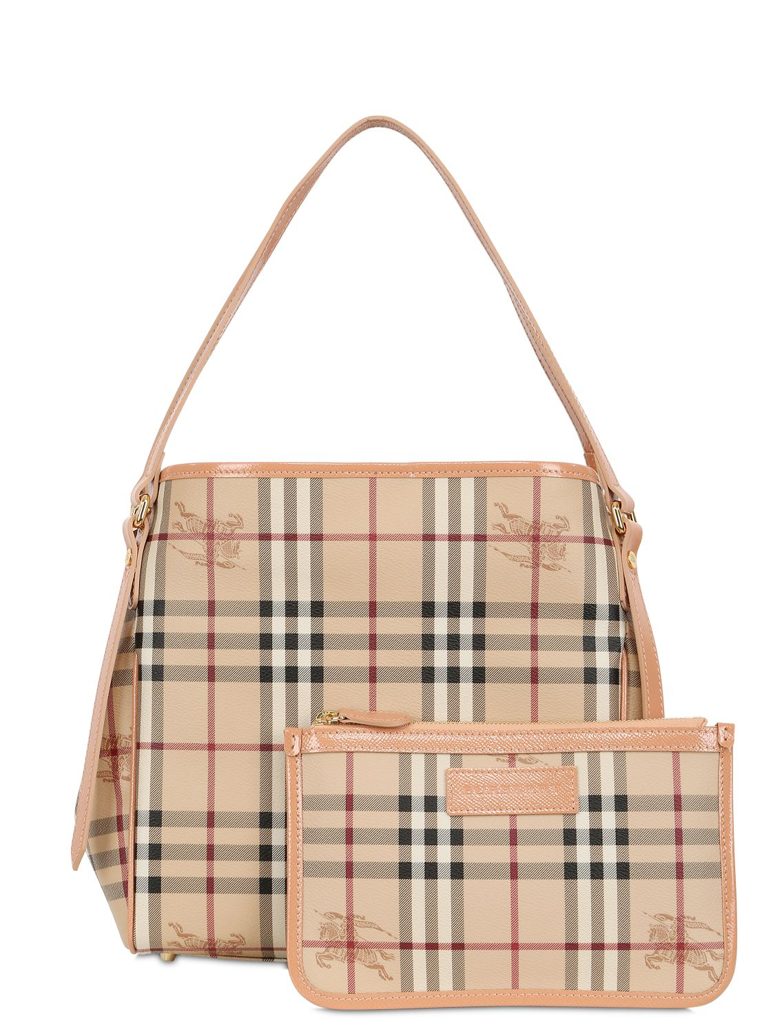 20e88703604f Burberry Small Canter Horseferry Check Tote Ash Rose Dusty Pink. Pink Plaid  Burberry Purse Best Image Ccdbb