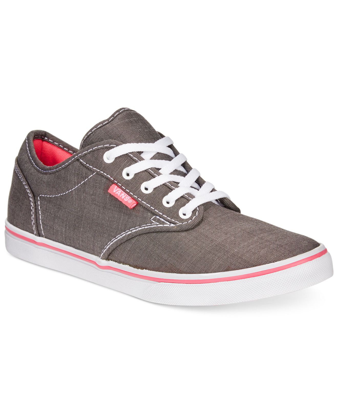 c01863046687 Lyst - Vans Women s Atwood Low Lace-up Sneakers in Gray