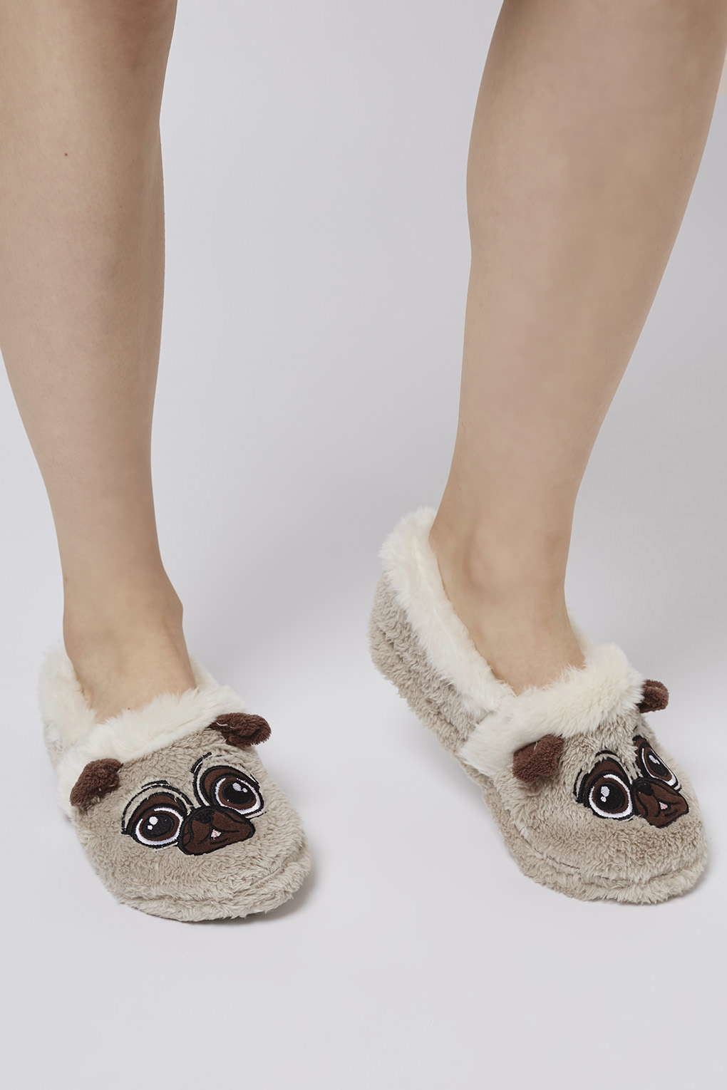 855042bacaa Lyst - TOPSHOP Pug Slippers in Gray