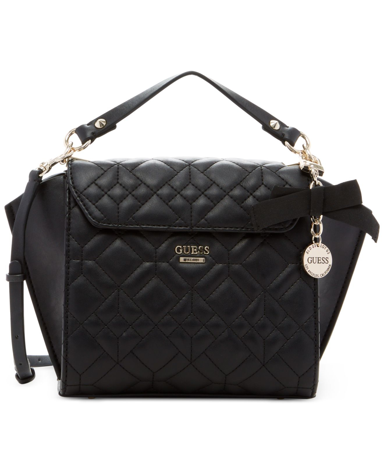 8d376bfd2ab5 Lyst - Guess Ines Top Handle Crossbody Bag in Black