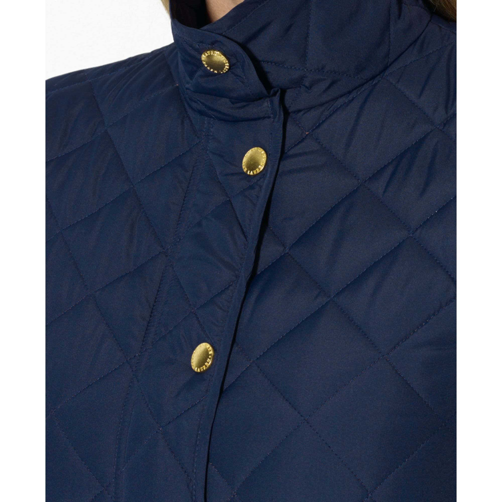 Plus Size Snap Front Quilted Jacket