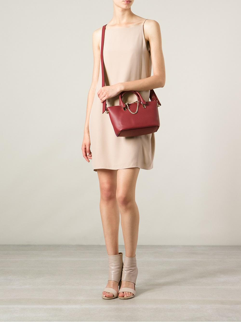 Chlo¨¦ Mini Baylee Shoulder Bag in Red | Lyst
