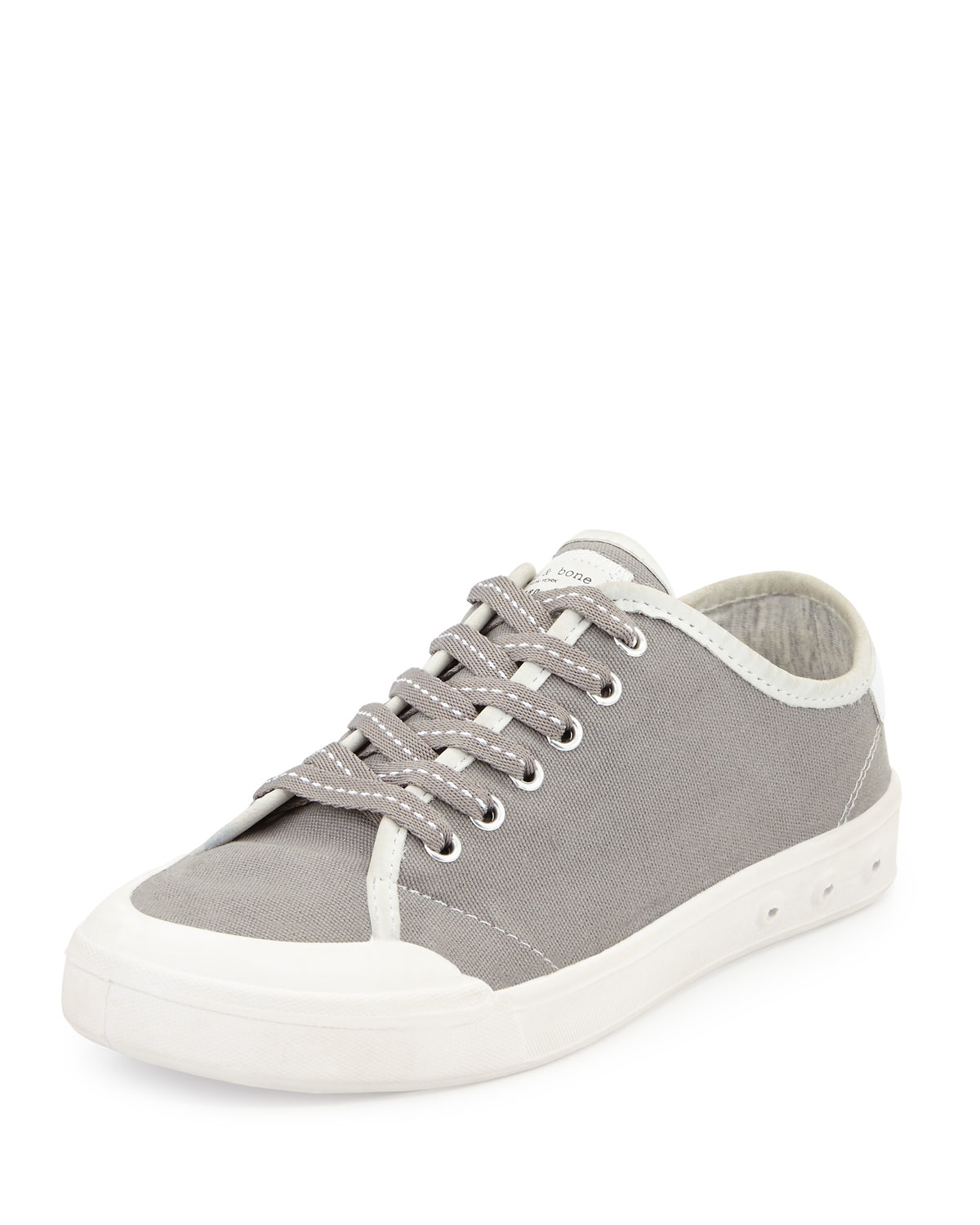 rag bone standard issue canvas lace up sneaker in gray