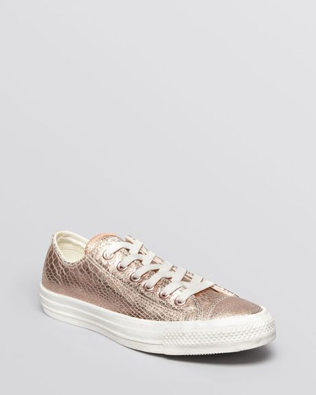 converse lace up sneakers chuck taylor all star in gold. Black Bedroom Furniture Sets. Home Design Ideas