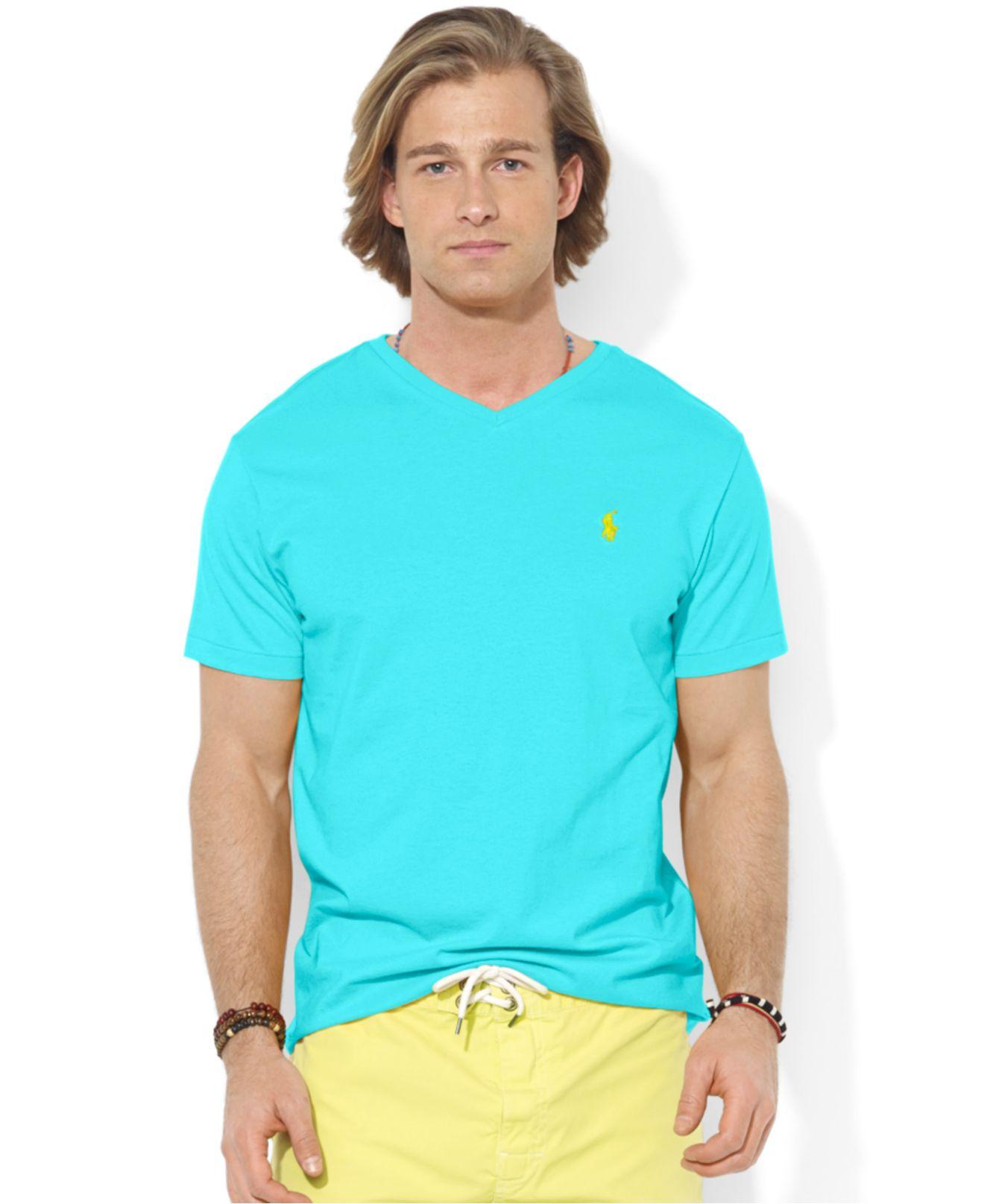ca777bbd2ce Lyst - Polo Ralph Lauren Jersey V-neck T-shirt in Blue for Men