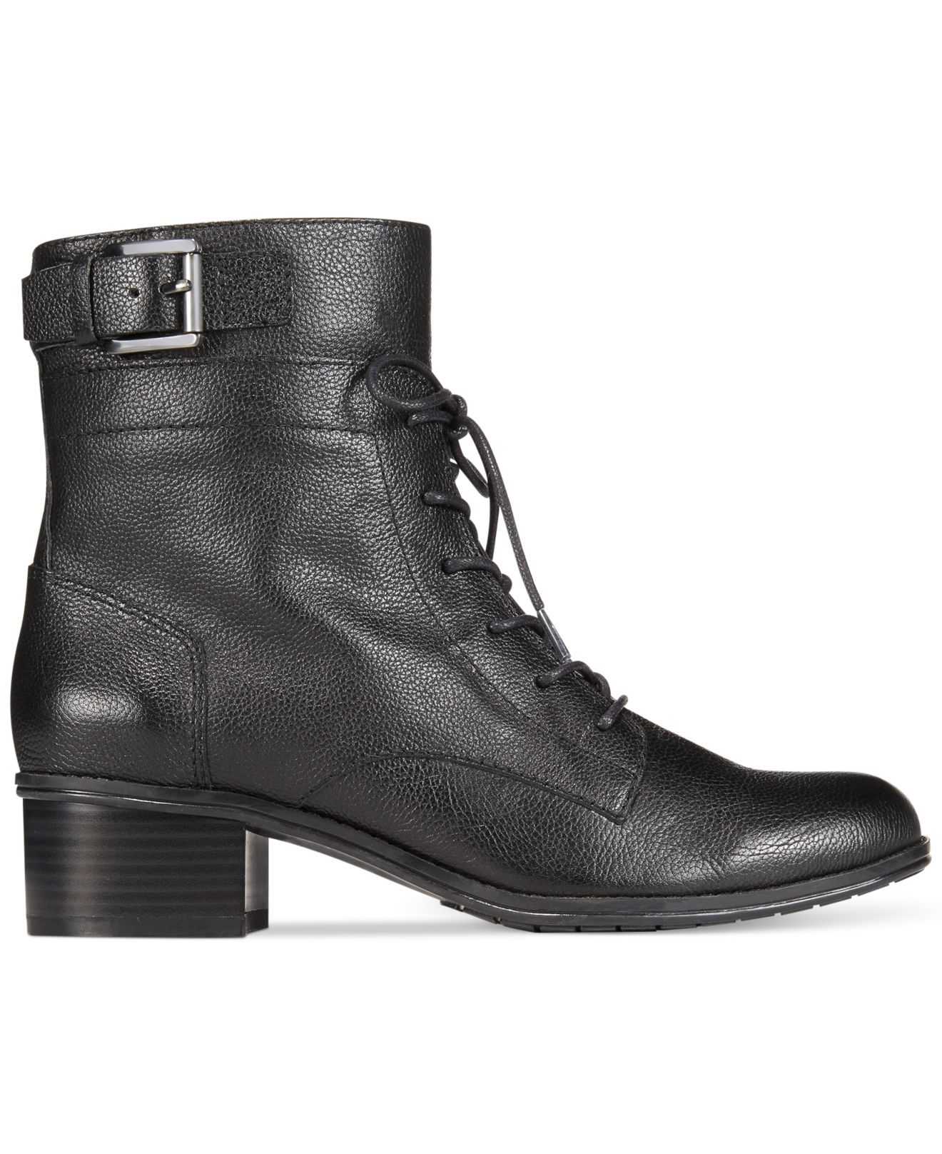 Lyst - Bandolino Clovis Lace Up Booties in Black