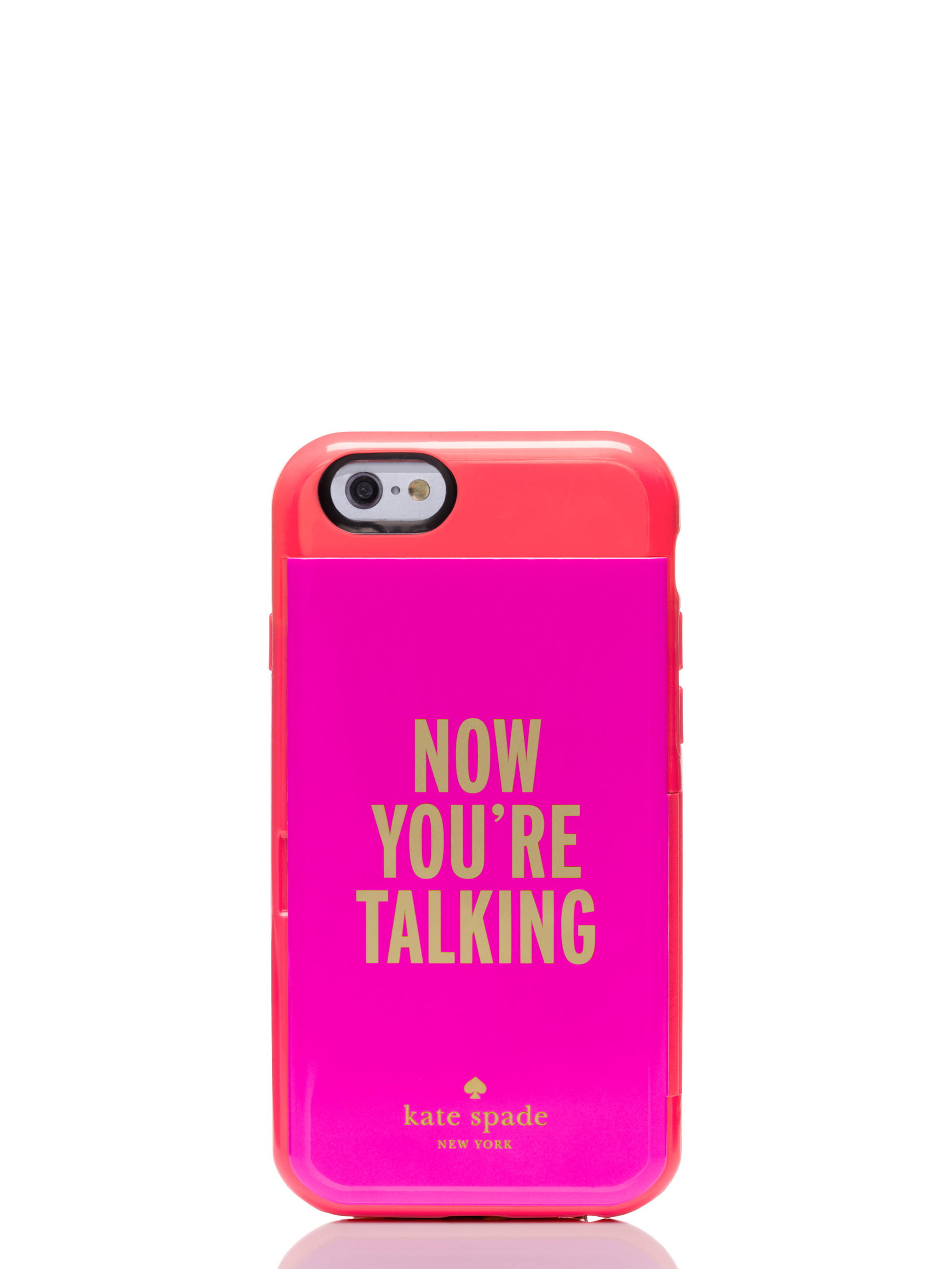wholesale dealer 6bbe3 2b196 kate spade new york Pink Now You're Talking Iphone 6 Credit Card Case