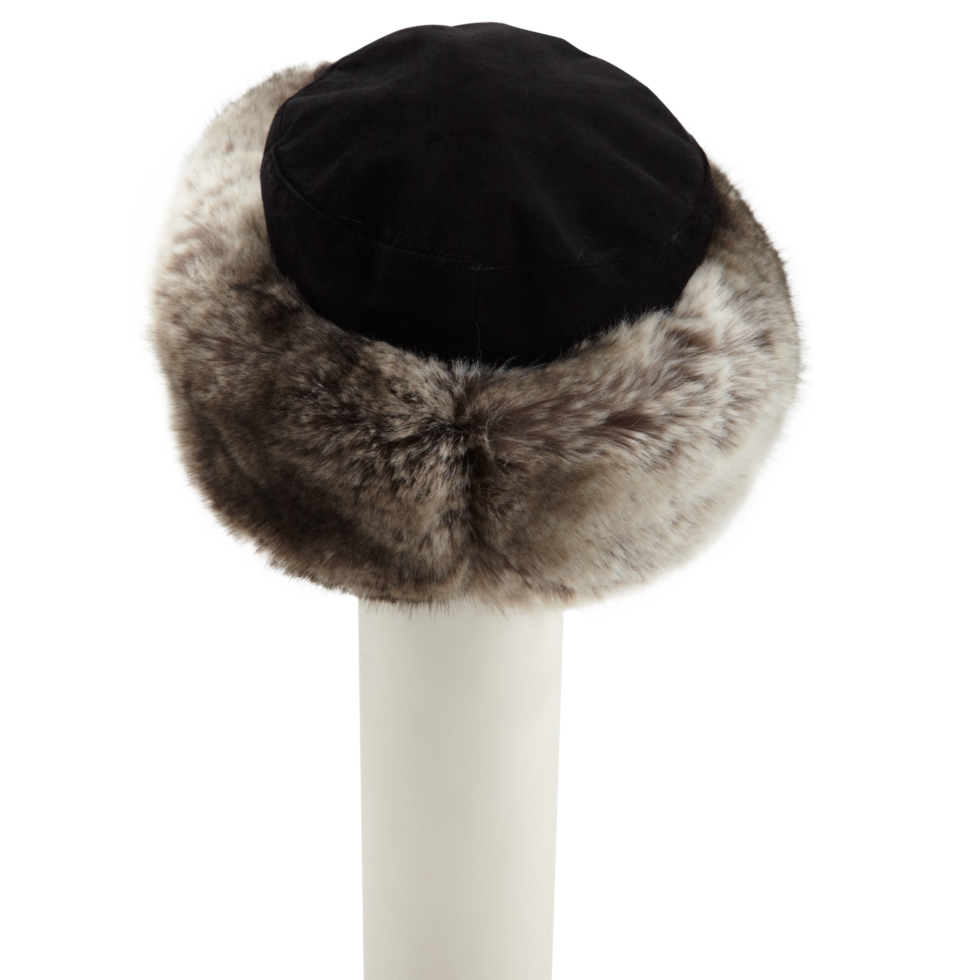 14662e945 John Lewis Gray Kamy Fur Trim Cossack Hat