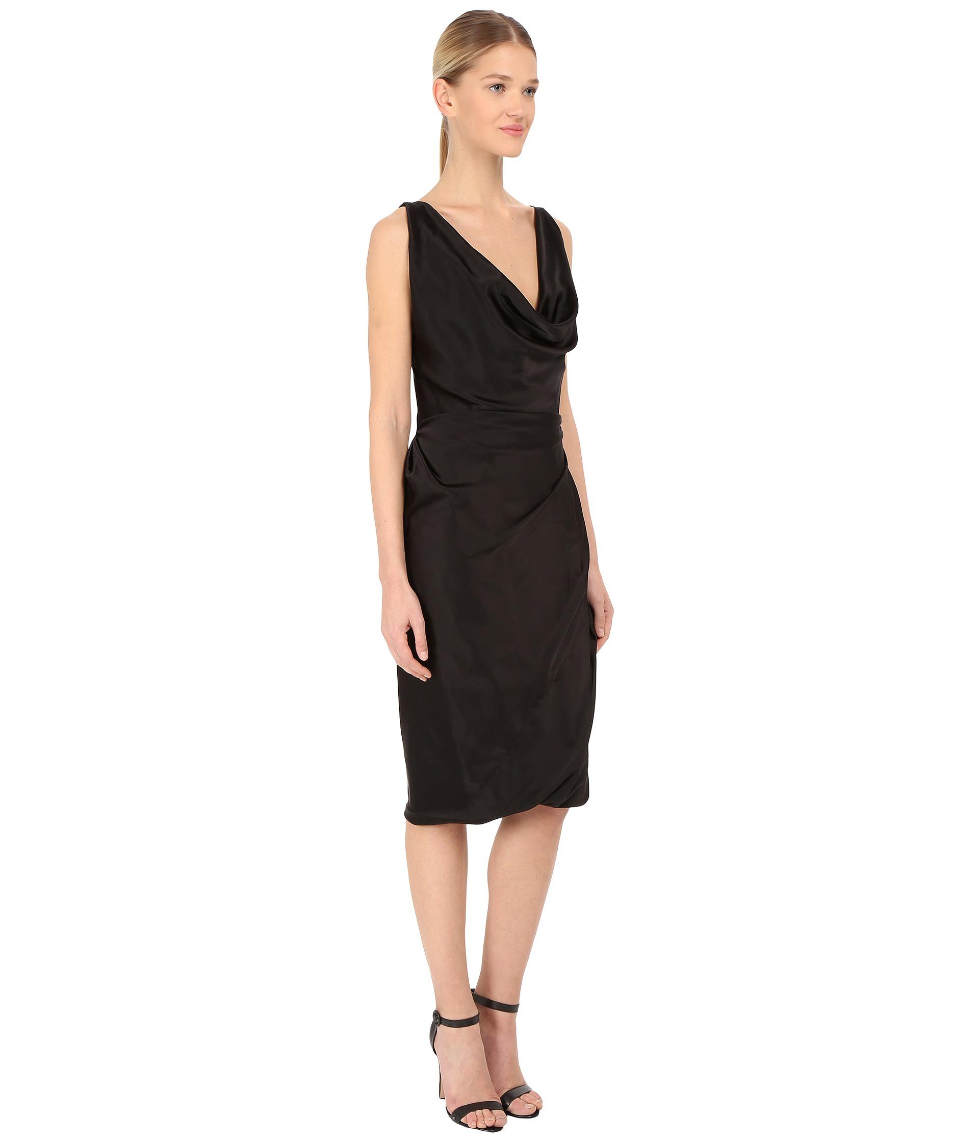 6456e93c2ed Lyst - Vivienne Westwood Red Label Stretch Satin Short Amber Dress ...