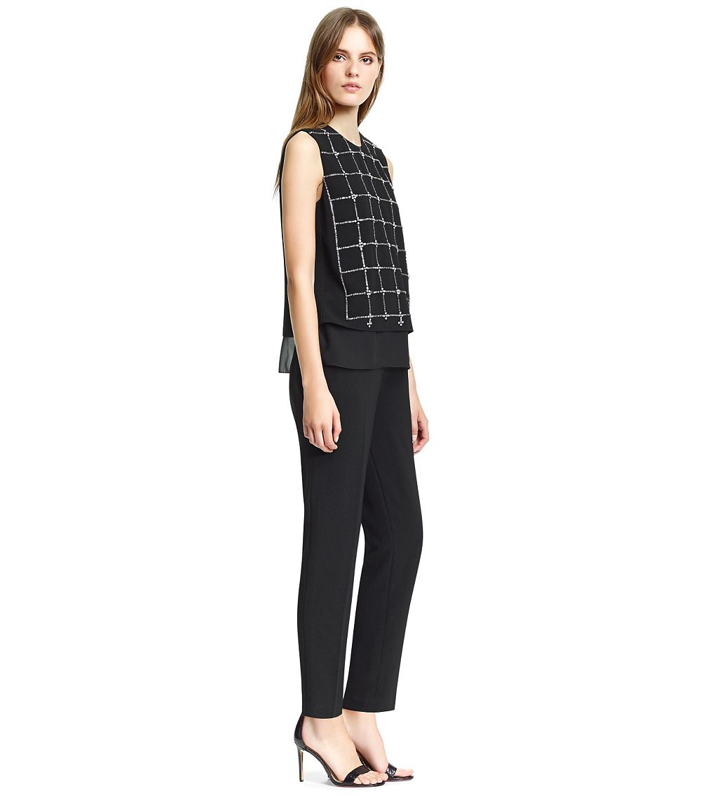 d2b16114750e Lyst - Tory Burch Betsy Jumpsuit in Black